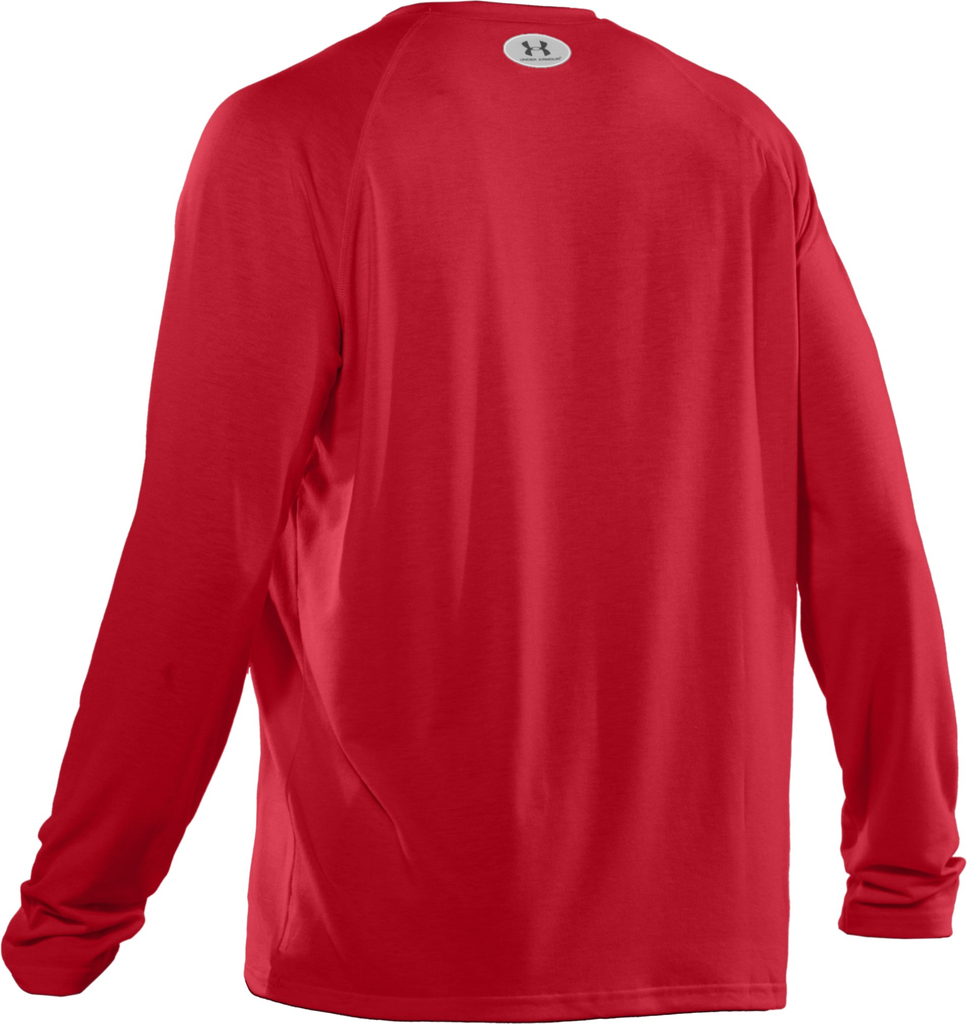 Men's UA Locker Long Sleeve T-Shirt, Red, undefined