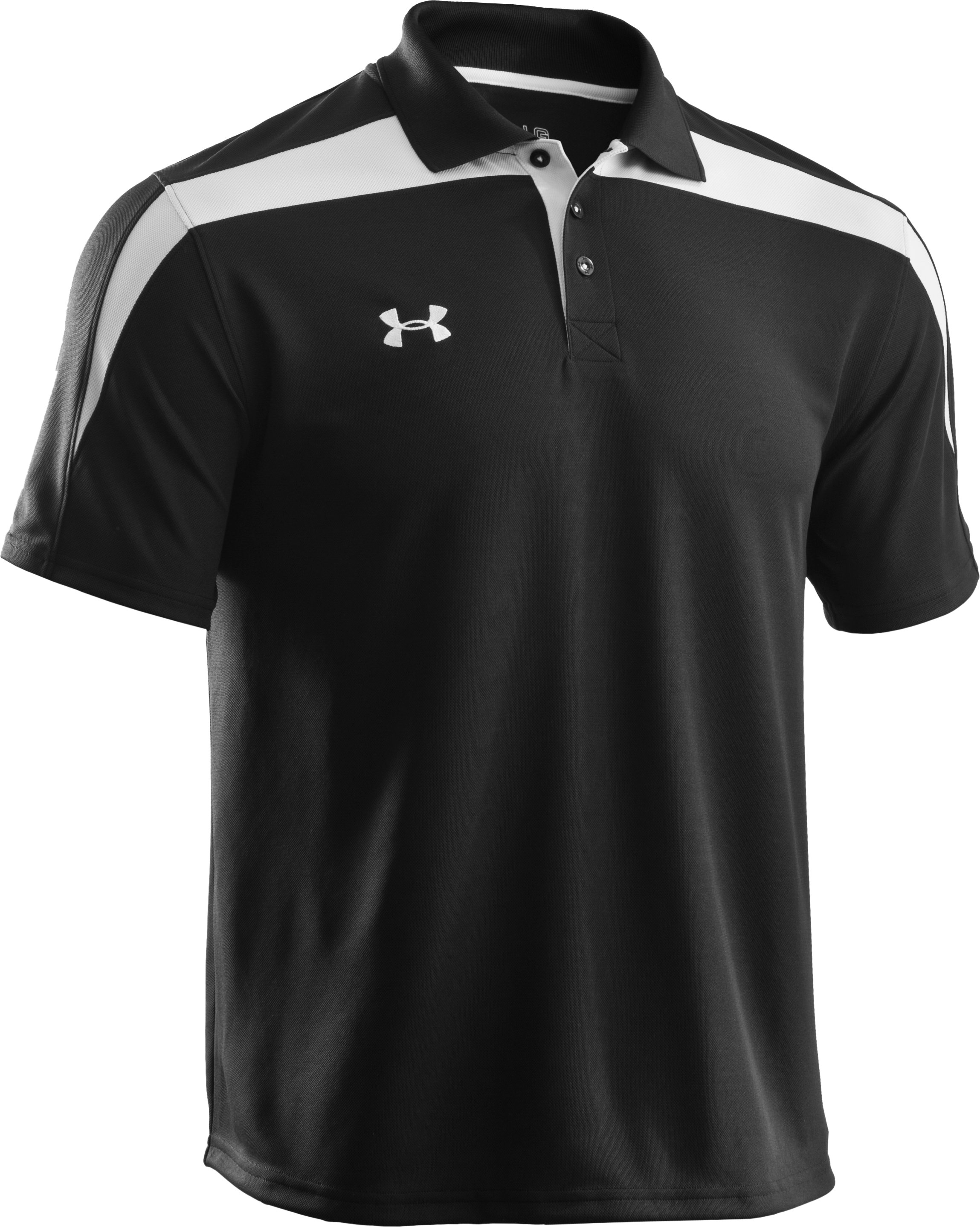 Men's UA Clutch II Polo, Black , undefined
