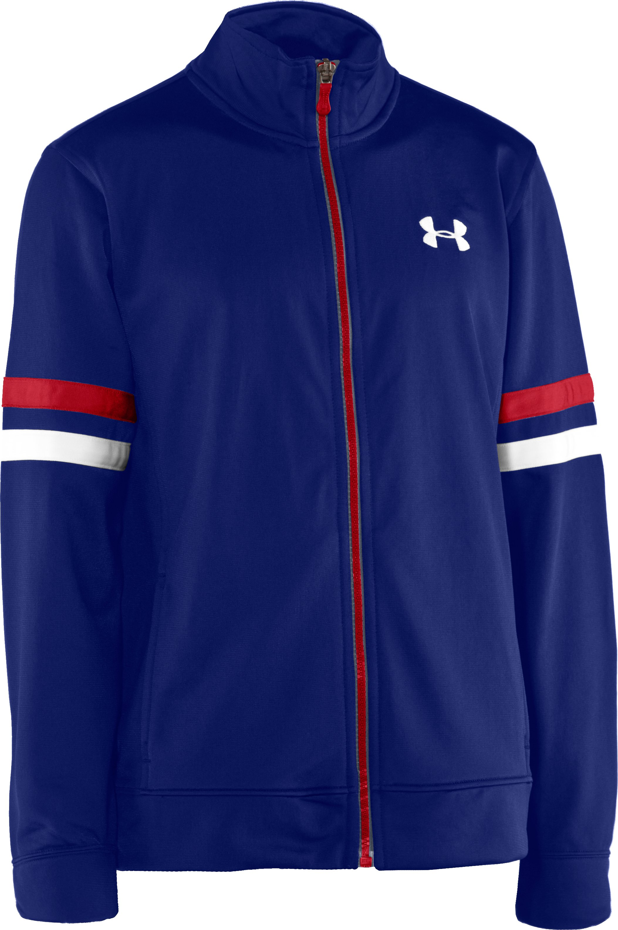 Boys' UA Brawler Warm-Up Jacket, Royal