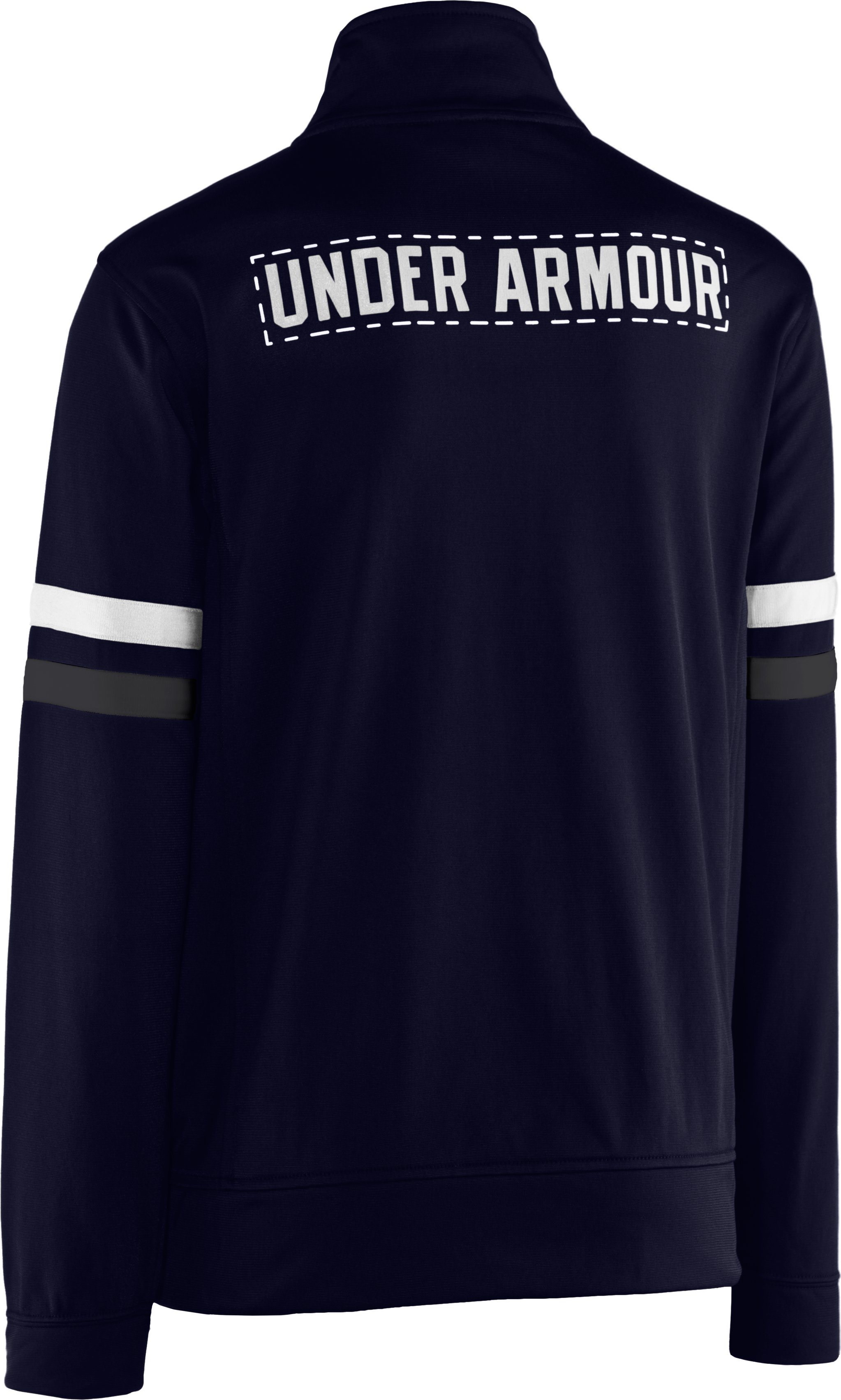 Boys' UA Brawler Warm-Up Jacket, Midnight Navy