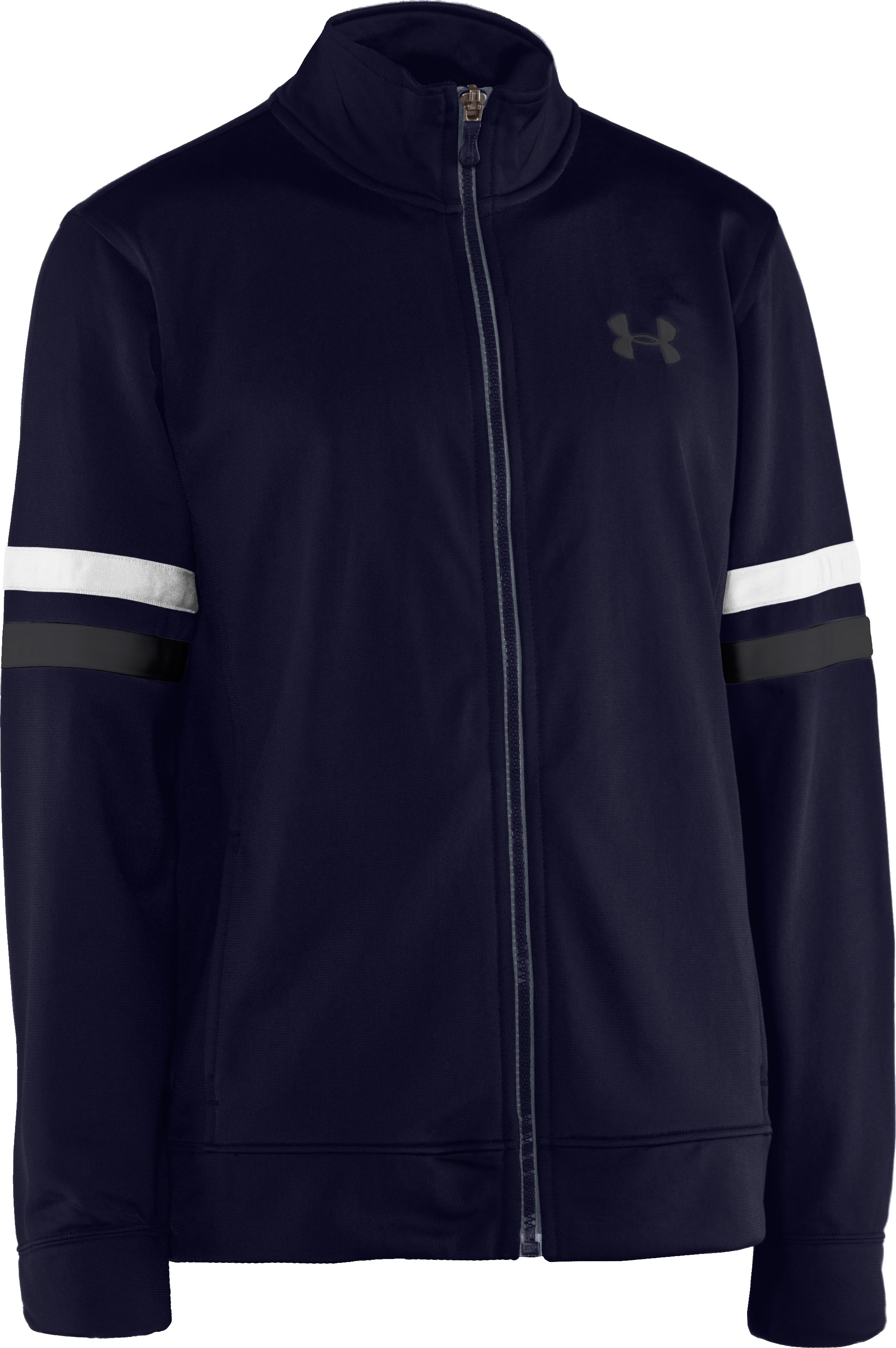 Boys' UA Brawler Warm-Up Jacket, Midnight Navy, zoomed image