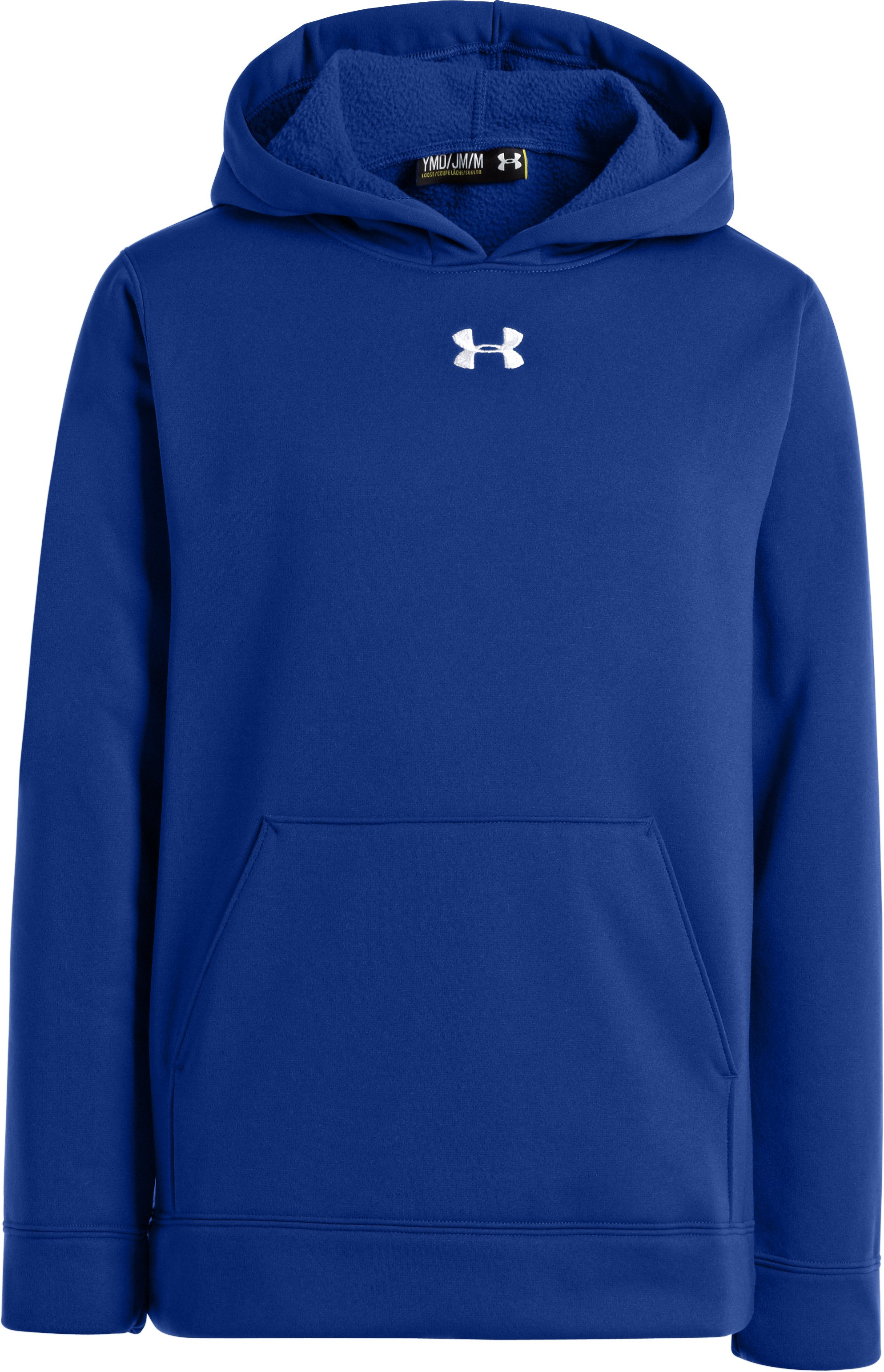 Boys' Armour® Fleece Storm Team Hoodie, Royal,