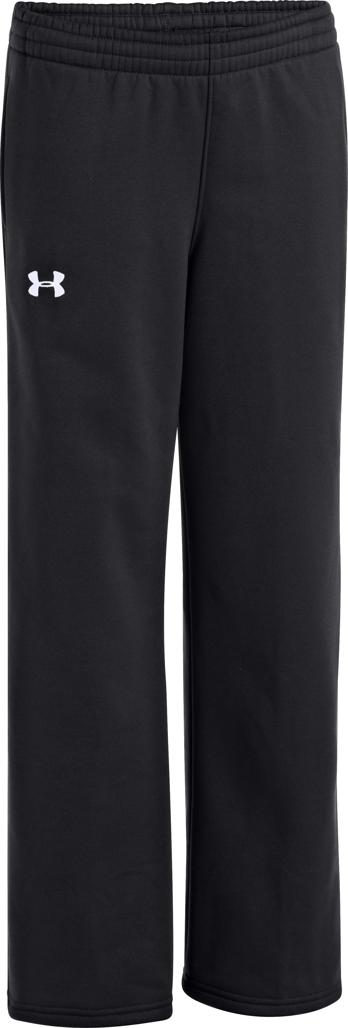 Boys' Armour® Fleece Storm Team Pants, Black , zoomed image