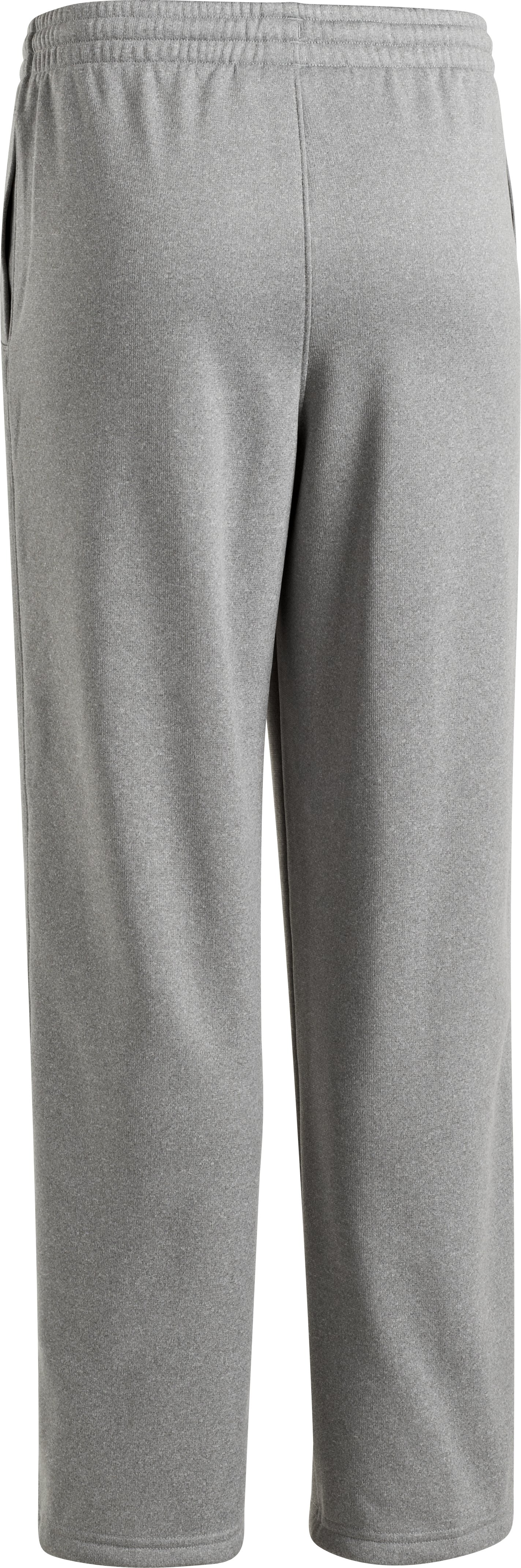Boys' Armour® Fleece Storm Team Pants, True Gray Heather
