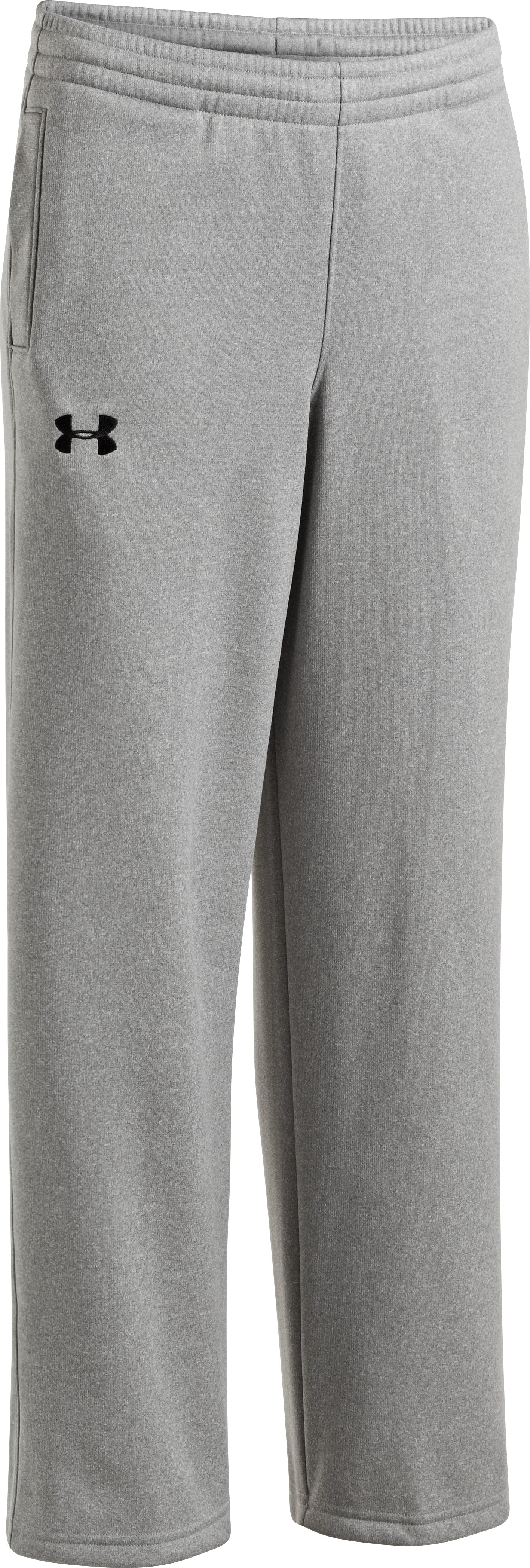 Boys' Armour® Fleece Storm Team Pants, True Gray Heather, zoomed image