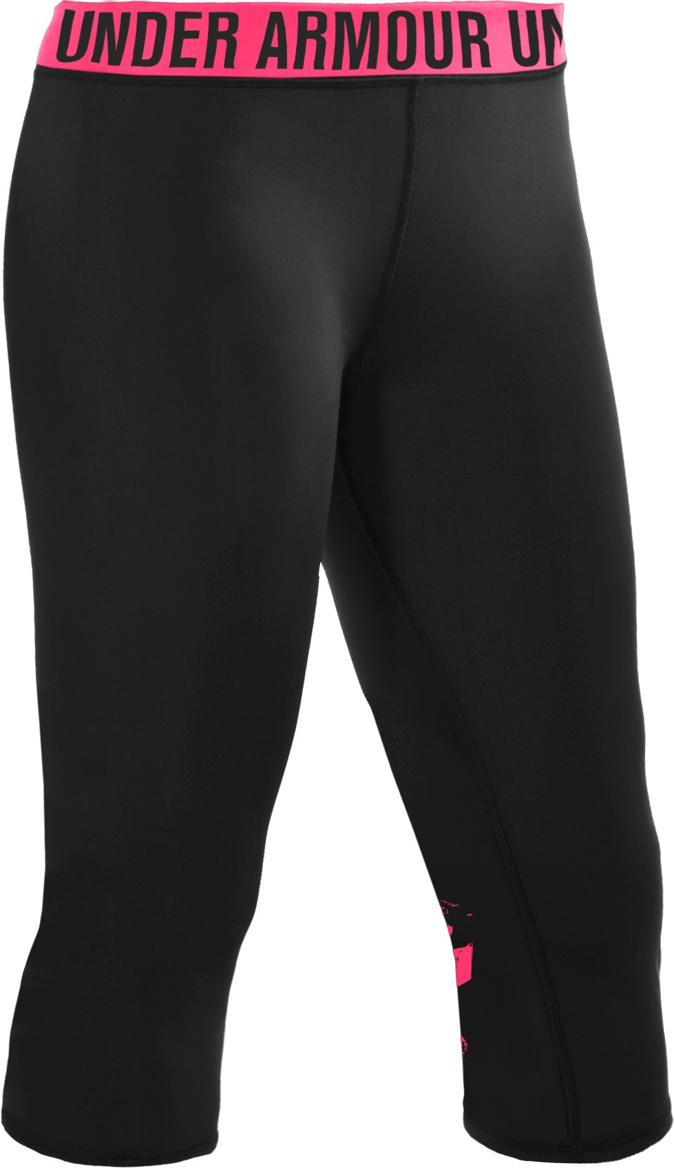 Women's Block It Big Logo Capri, Black , undefined