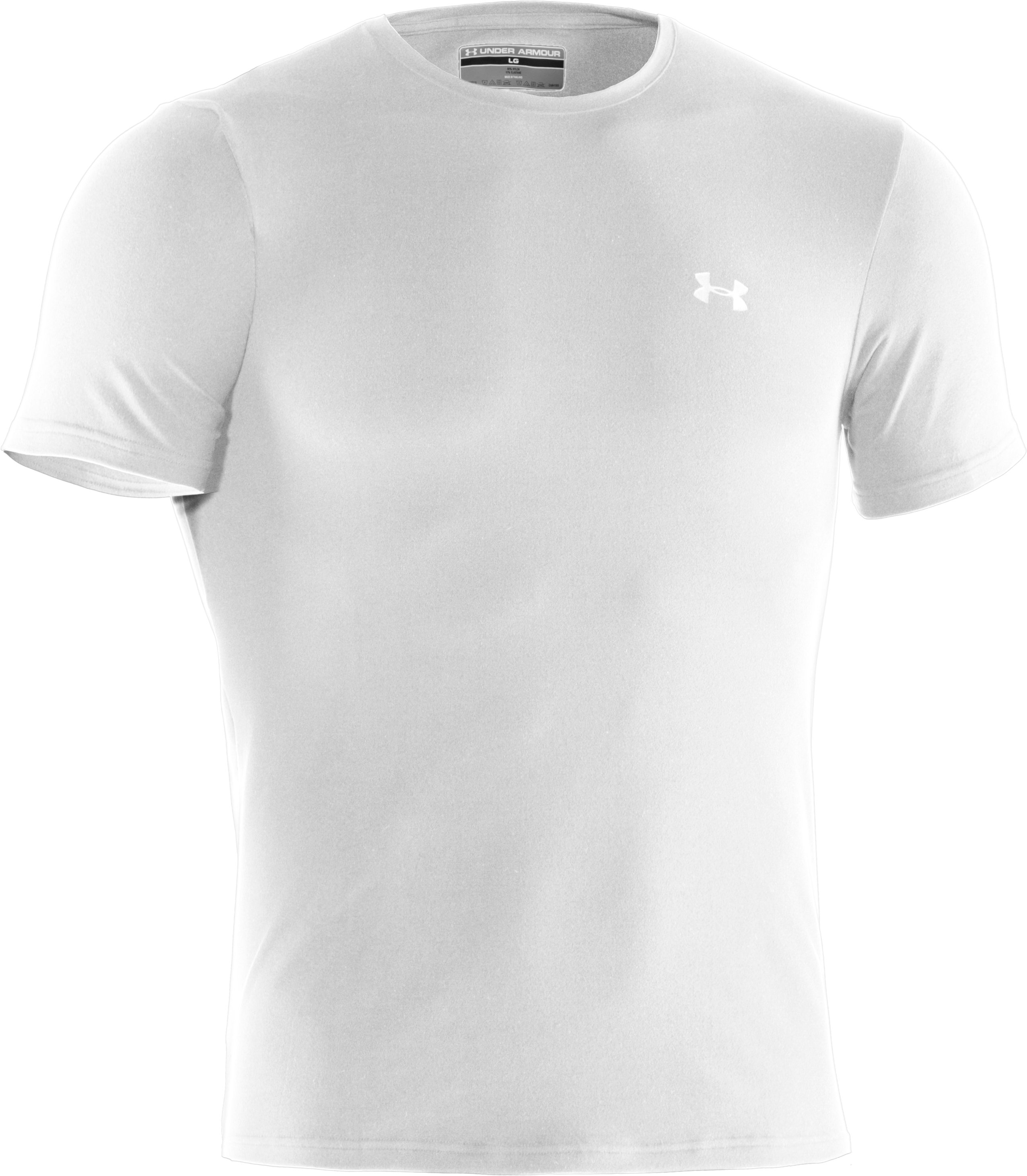 Men's UA Elite Crew Undershirt, White,