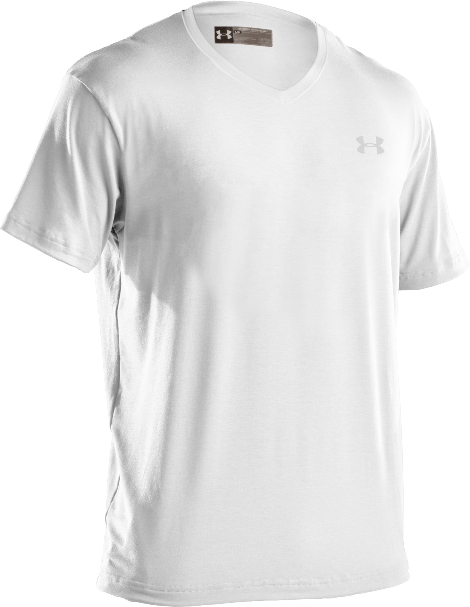 Men's Charged Cotton® V-neck Undershirt, White