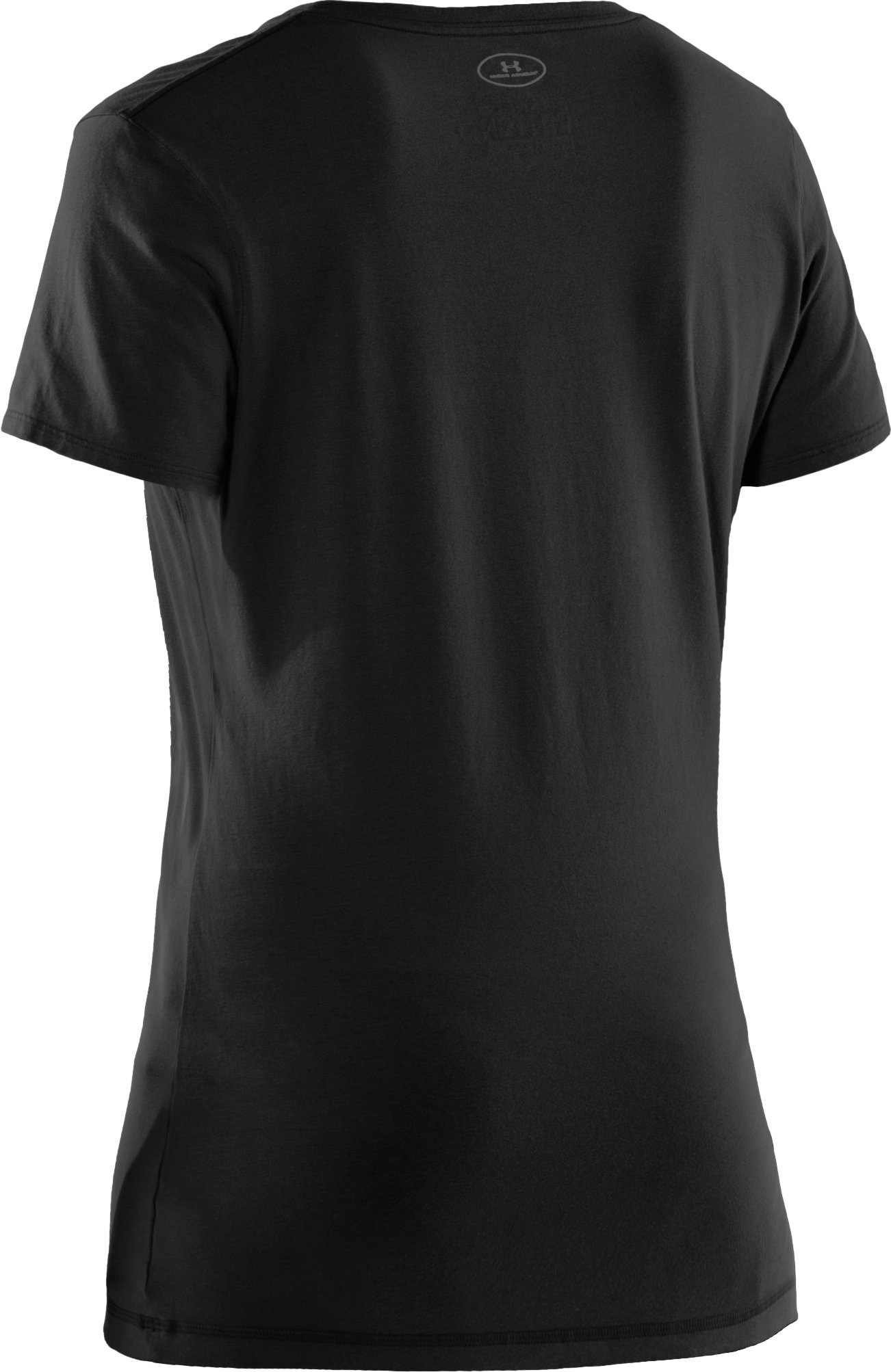 Women's Charged Cotton® Sassy Scoop T-Shirt, Black , undefined