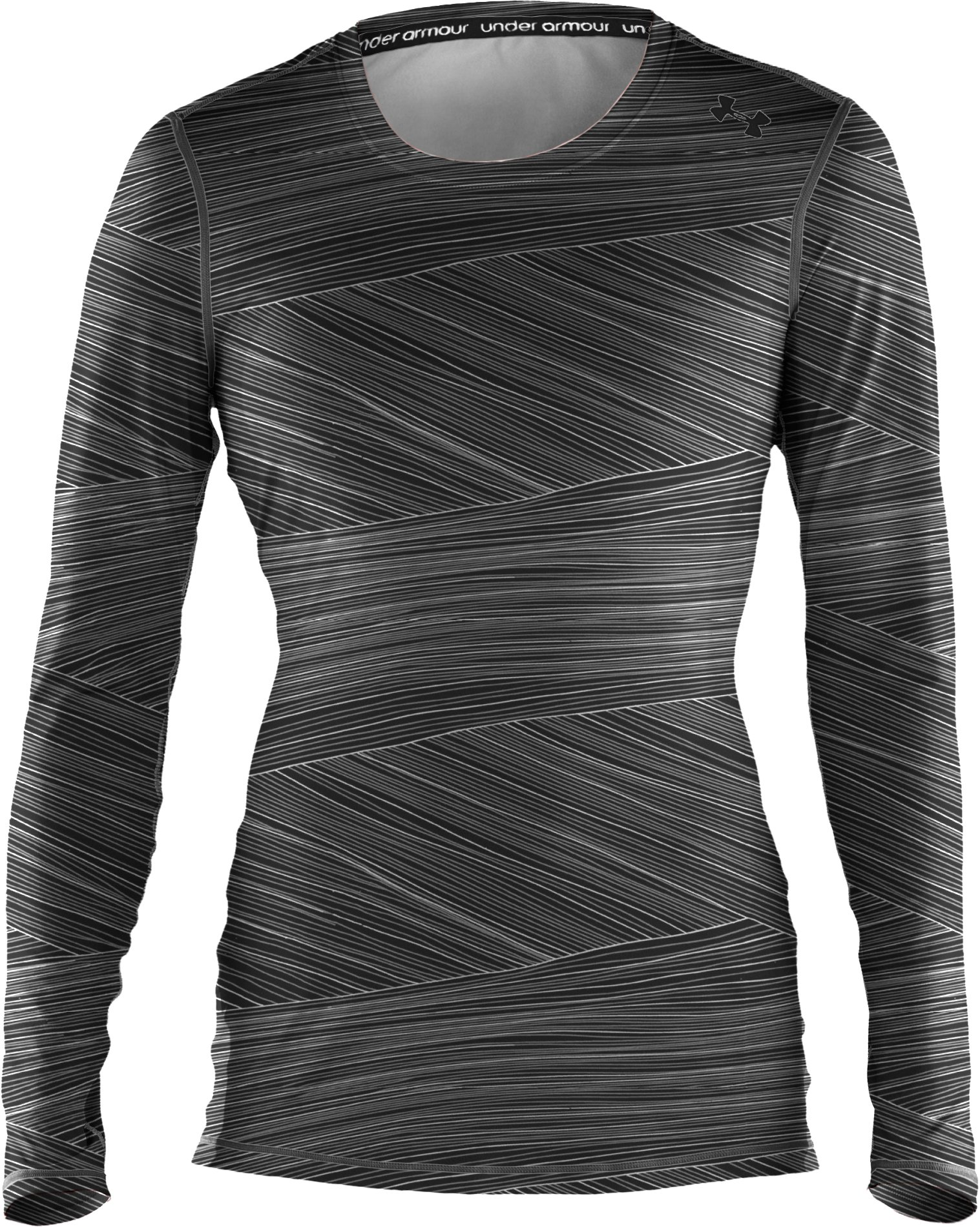 Women's HeatGear® Sonic Printed Long Sleeve, Black