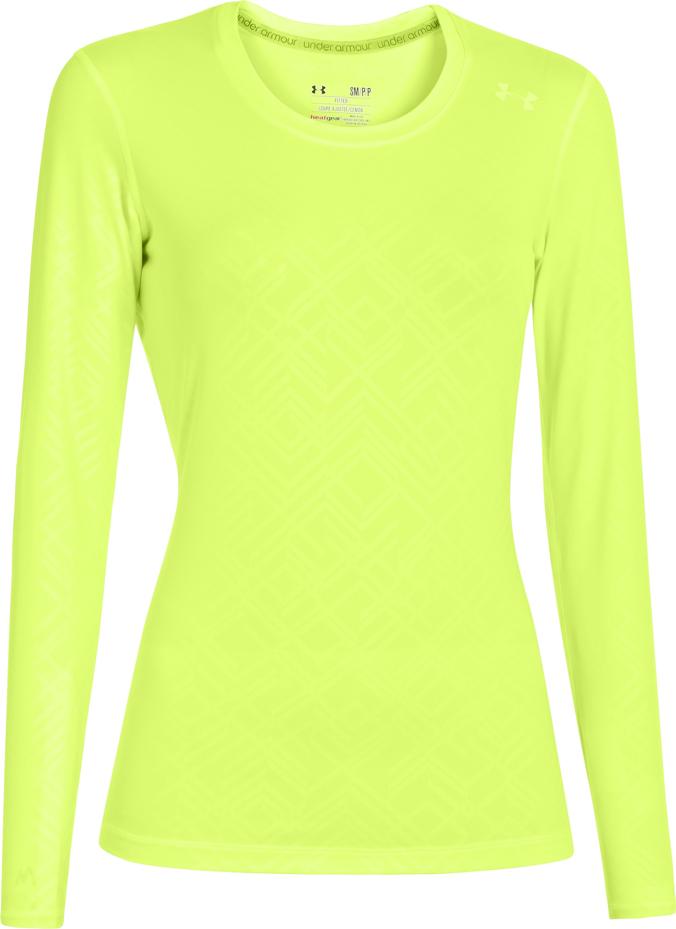 Women's HeatGear® Sonic Printed Long Sleeve, X-Ray, undefined
