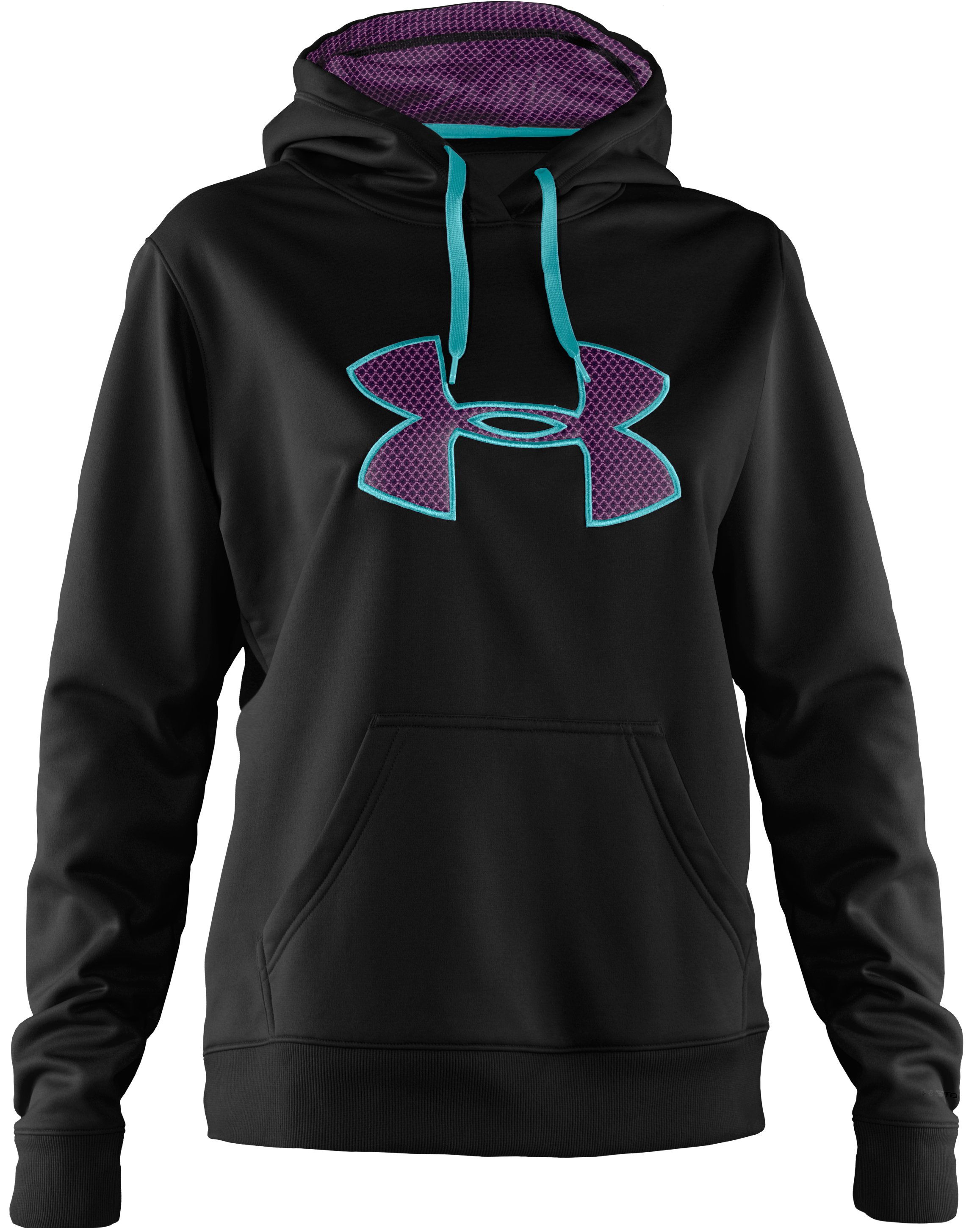 Women's Armour Fleece® Storm Big Logo Intensity Hoodie, Black