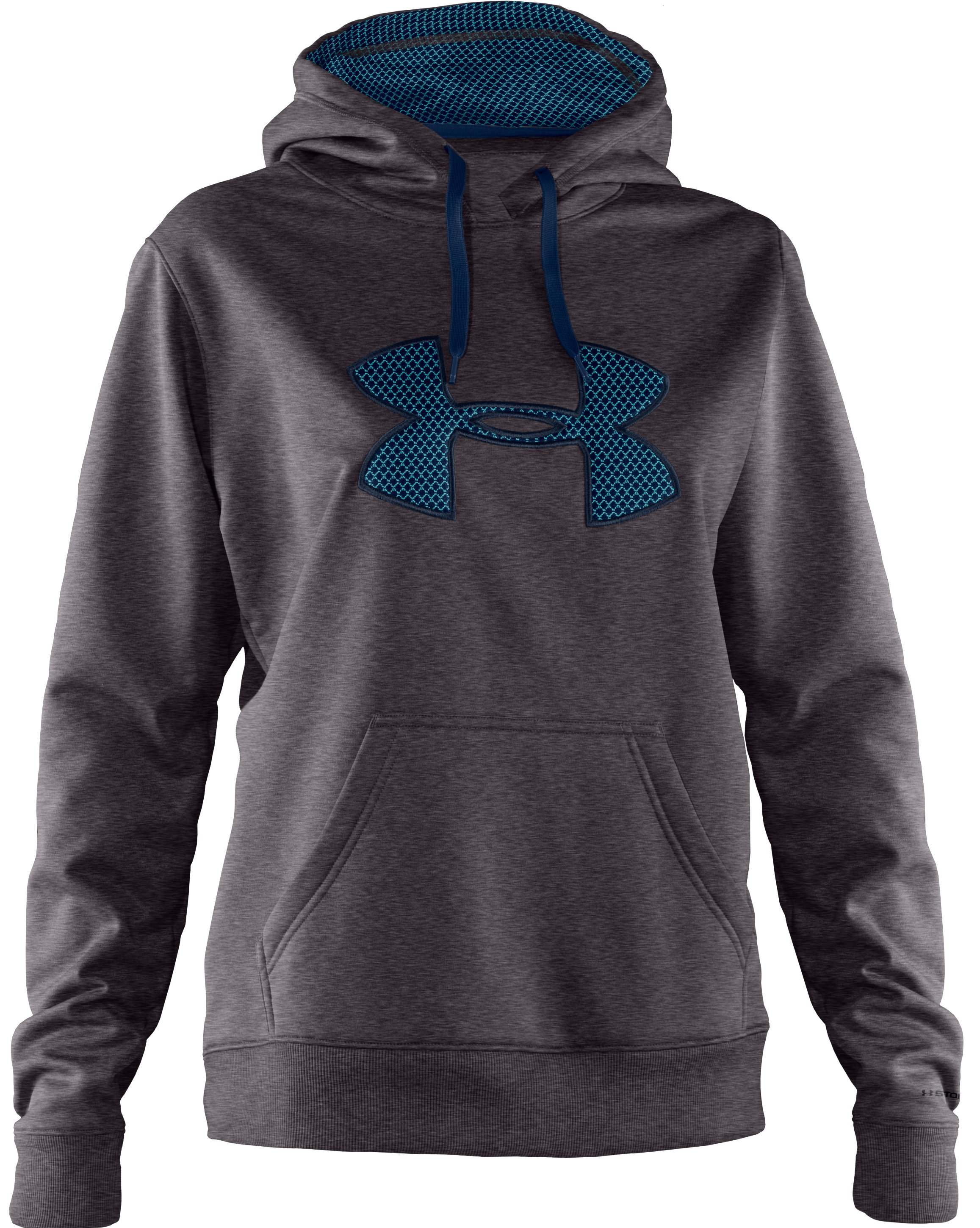 Women's Armour Fleece® Storm Big Logo Intensity Hoodie, Carbon Heather
