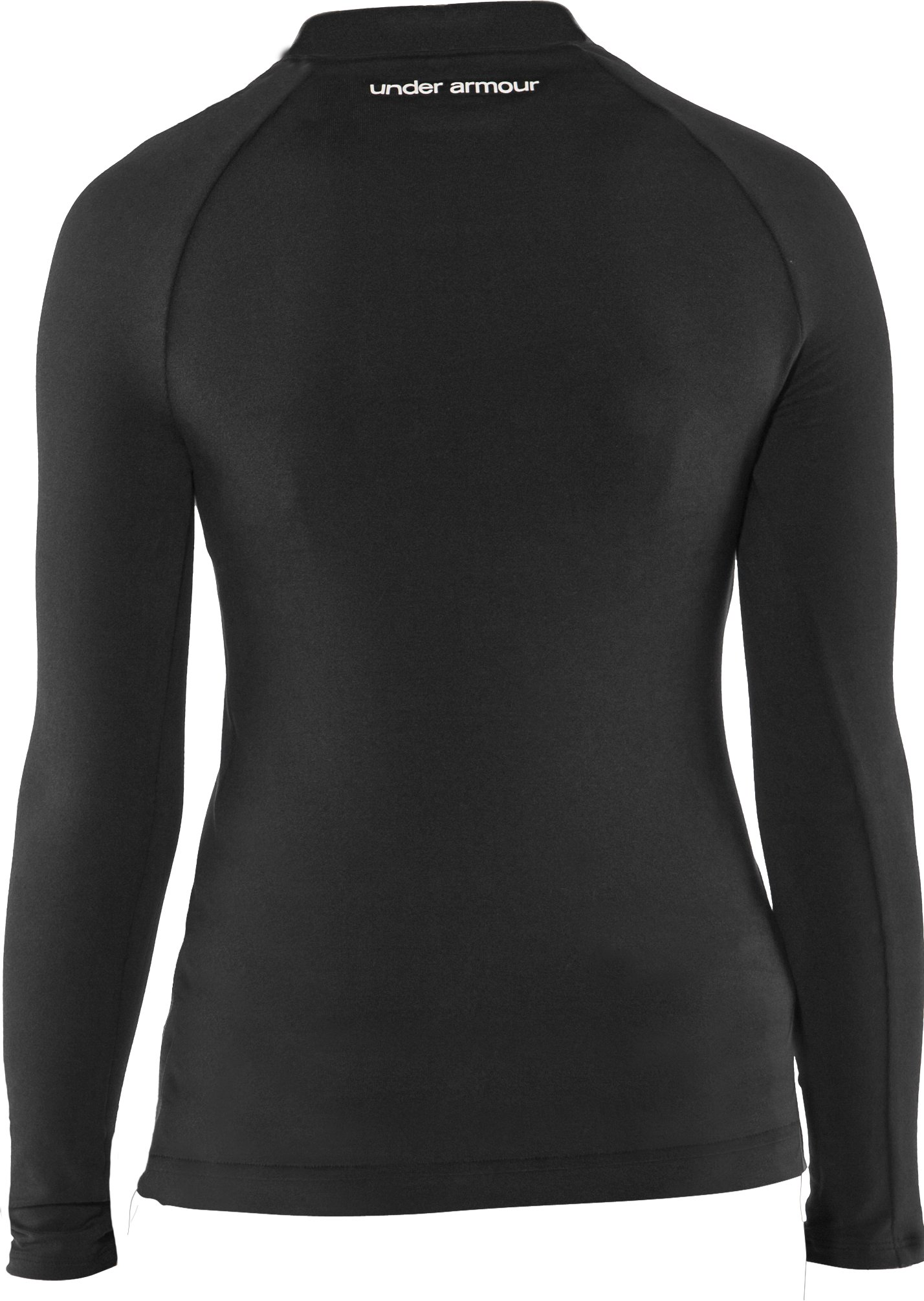 Girls' Fitted HeatGear® Touch Long Sleeve V-Neck, Black