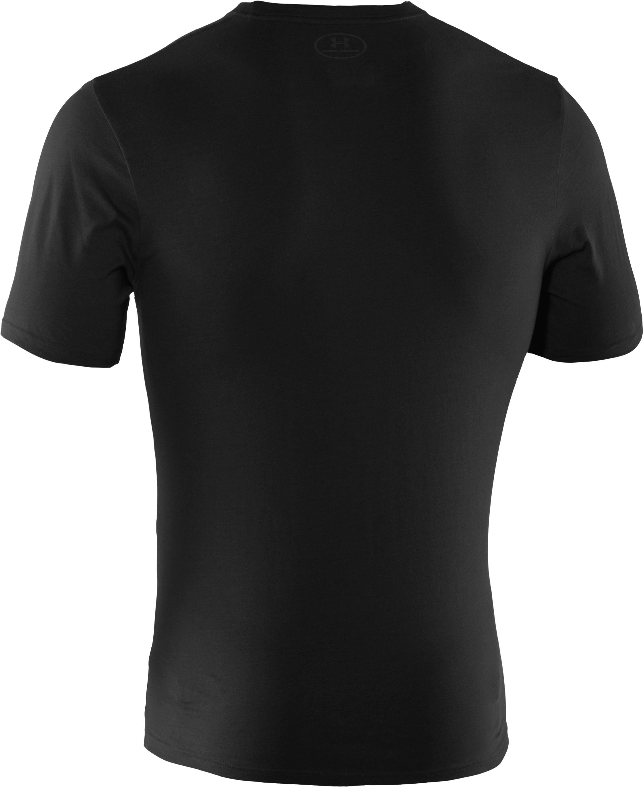 Men's UA Tactical Charged Cotton® T-Shirt, Black ,