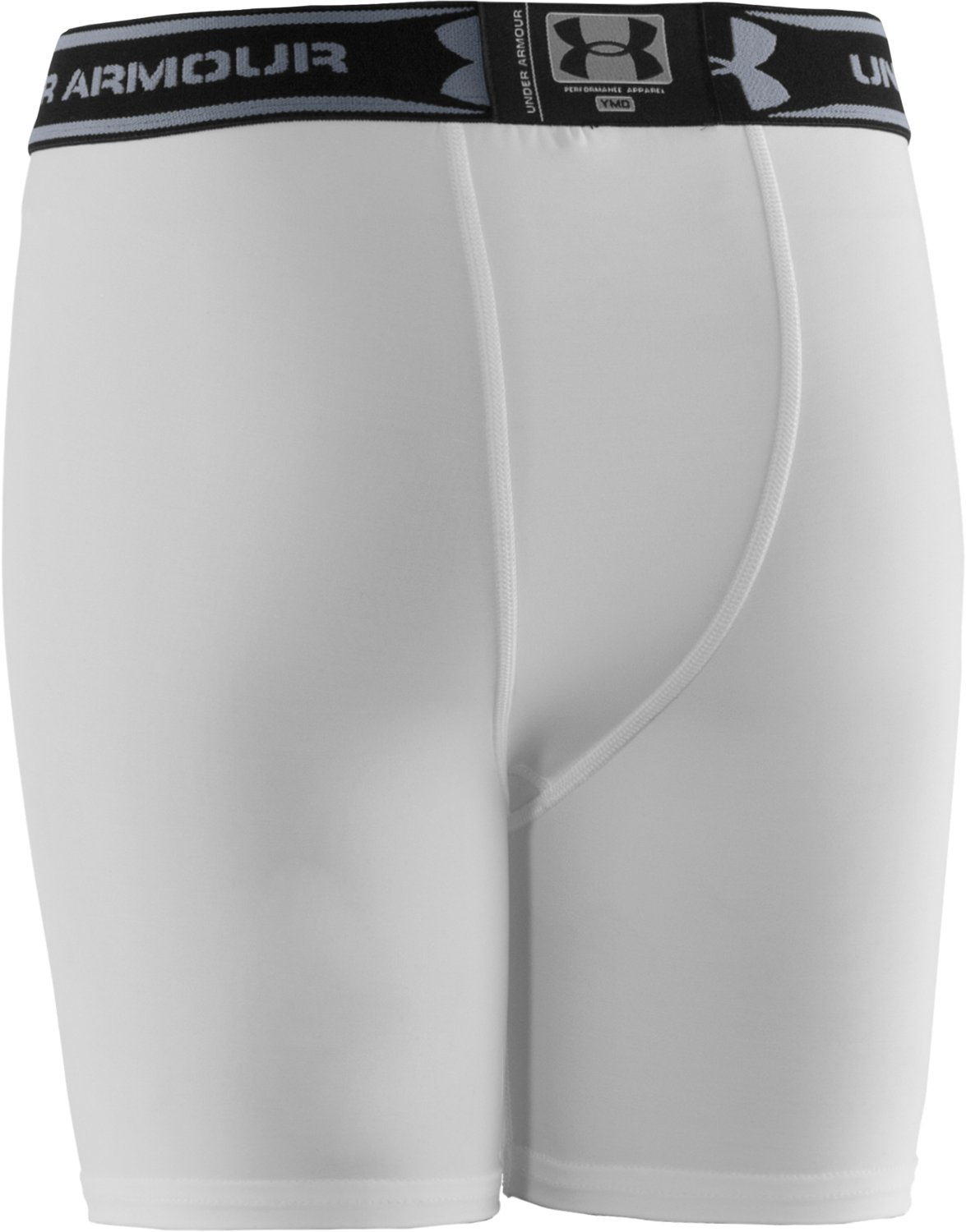 "Boys' HeatGear® 4"" Baselayer Shorts, White"