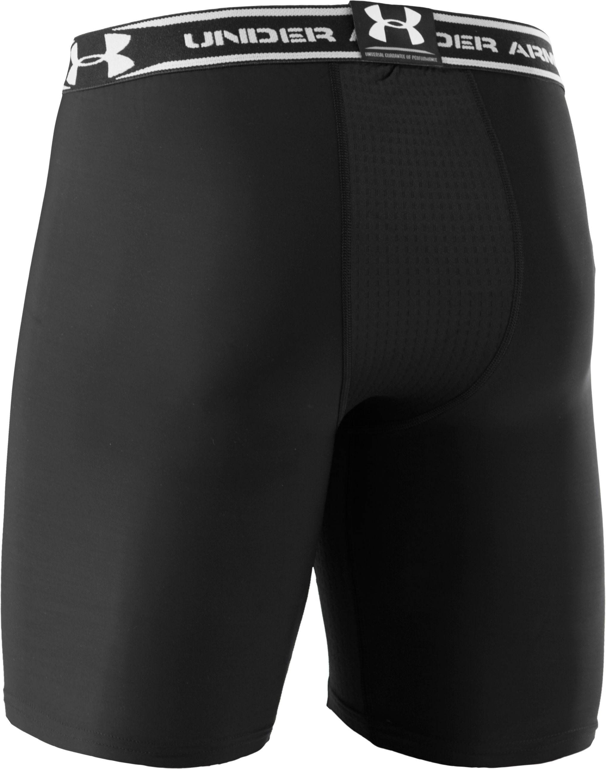 "Men's HeatGear® Vented 7"" Compression Shorts, Black"