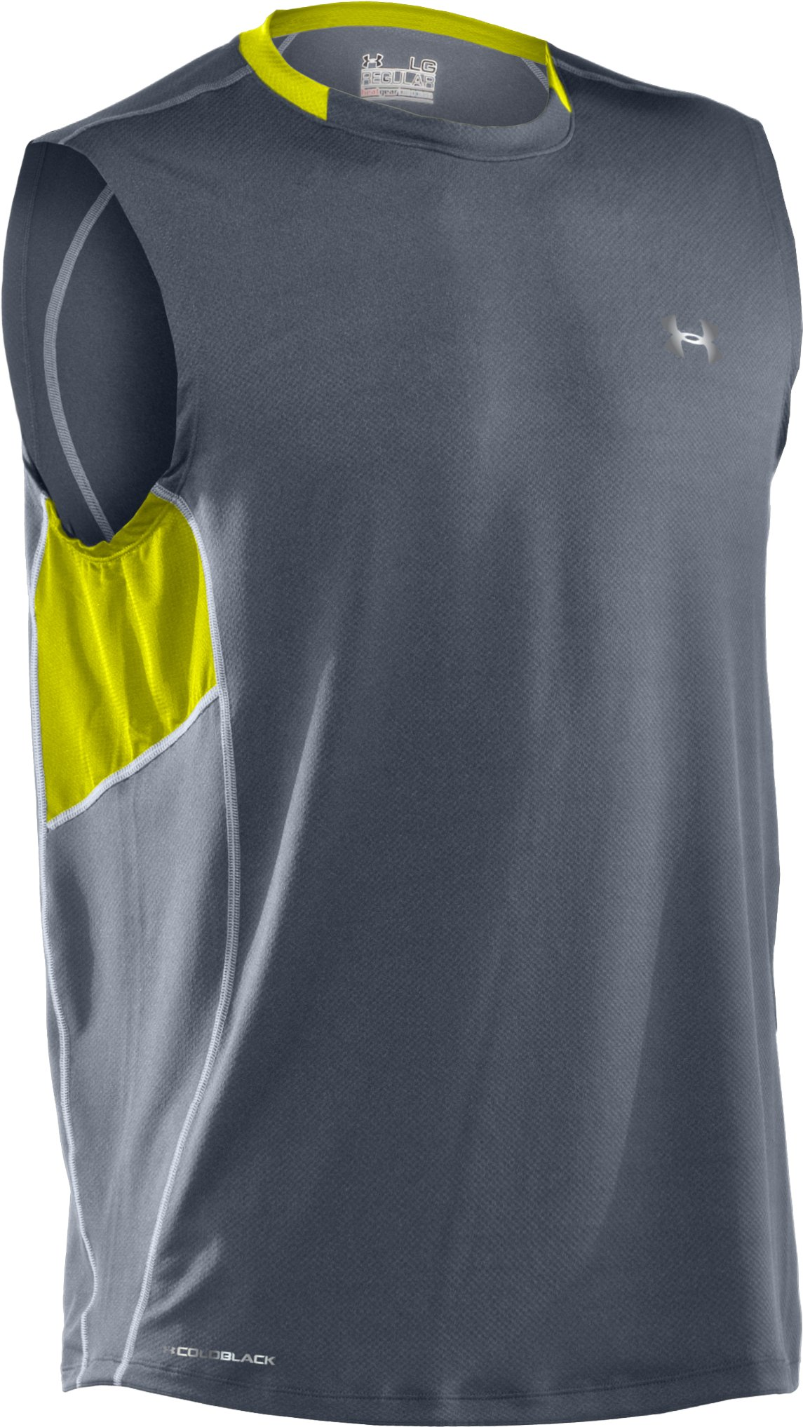 Men's coldblack® UA Run Sleeveless T-Shirt, Steel