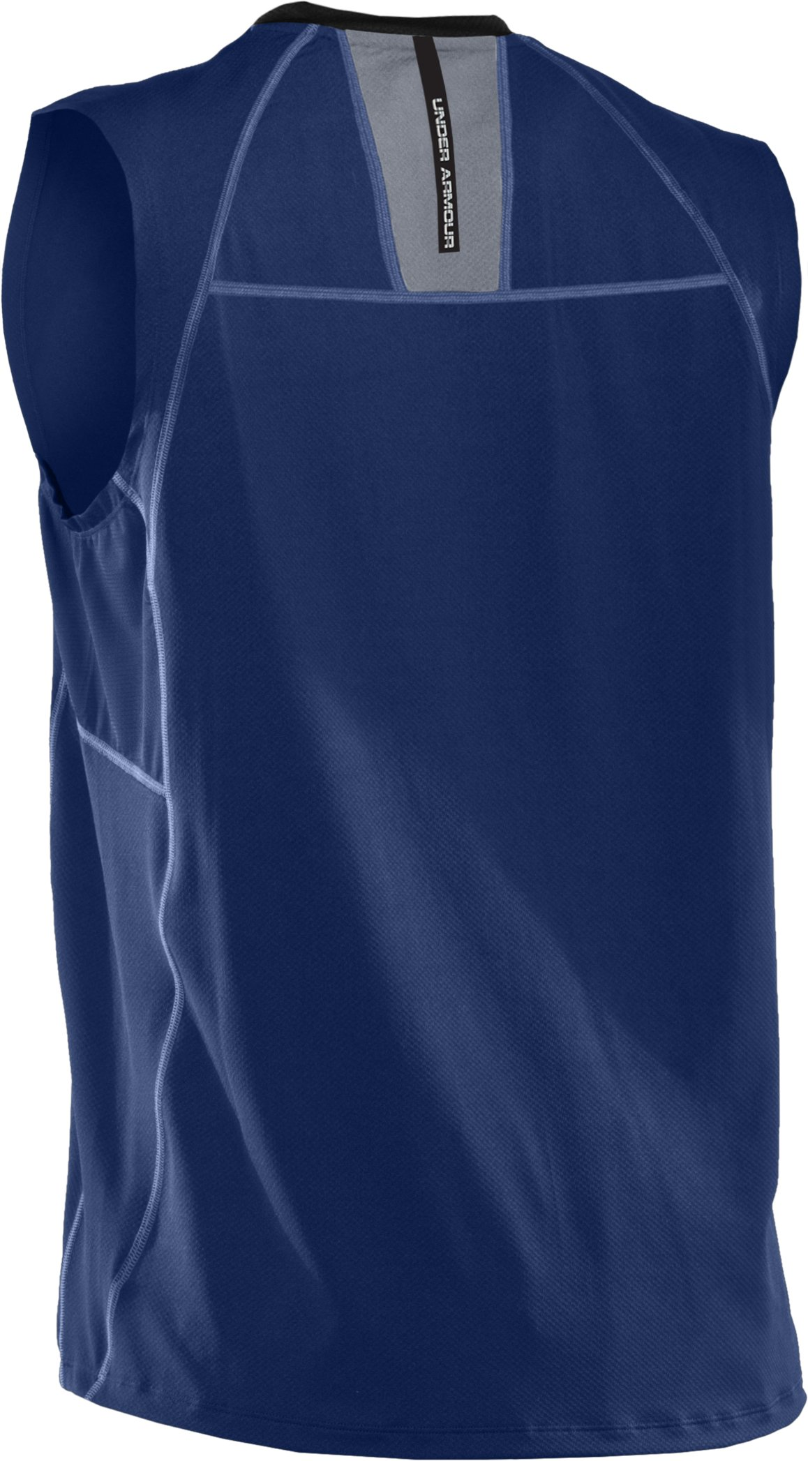 Men's coldblack® UA Run Sleeveless T-Shirt, Evening, undefined