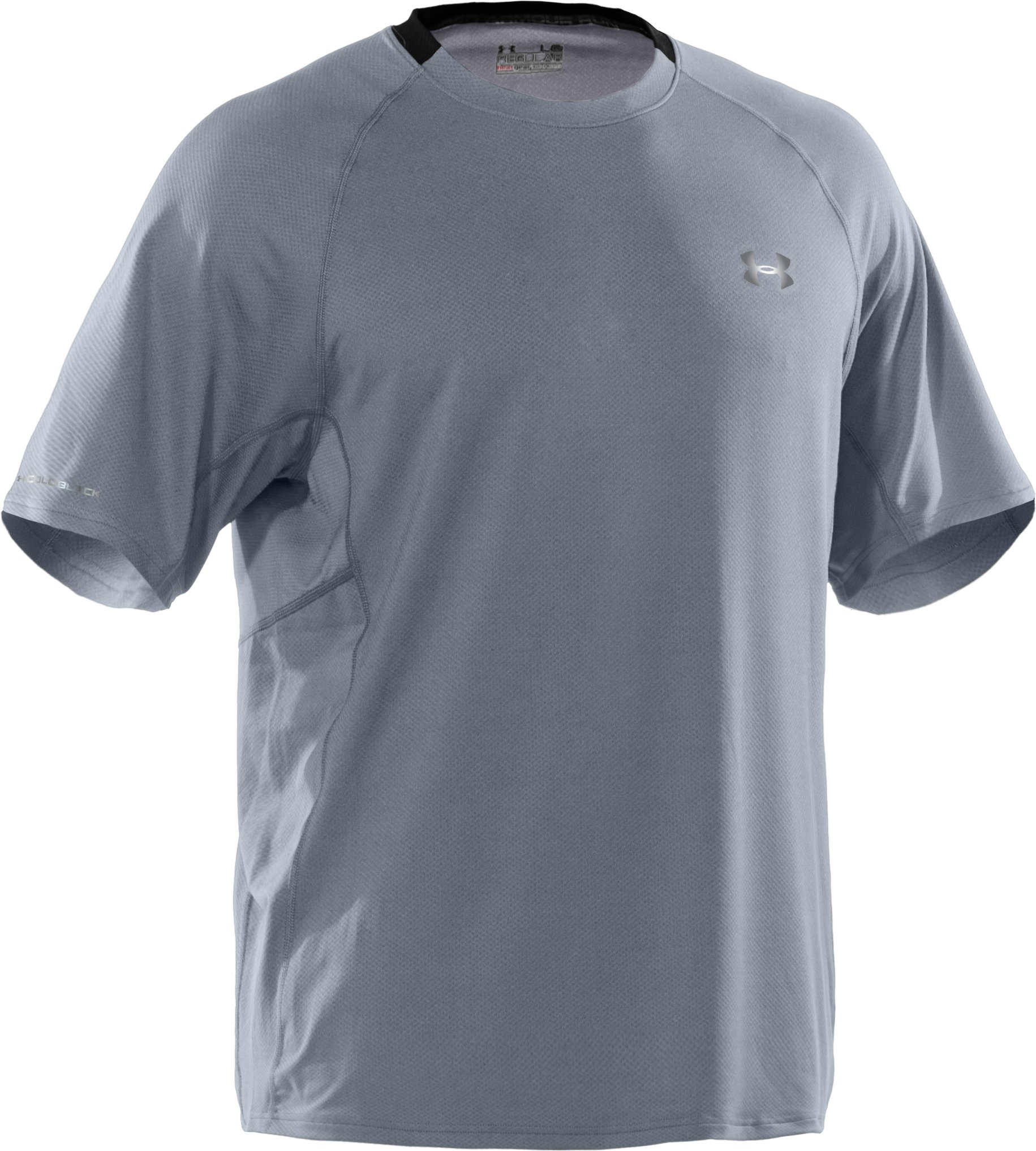 Men's coldblack® UA Run Short Sleeve T-Shirt, Steel