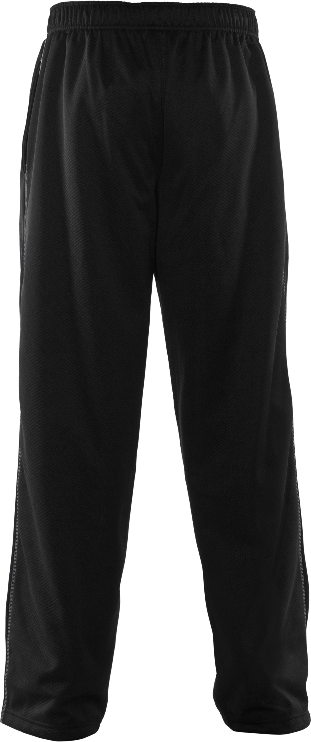 "Men's UA Tech™ Fleece 32"" Pants, Black , undefined"