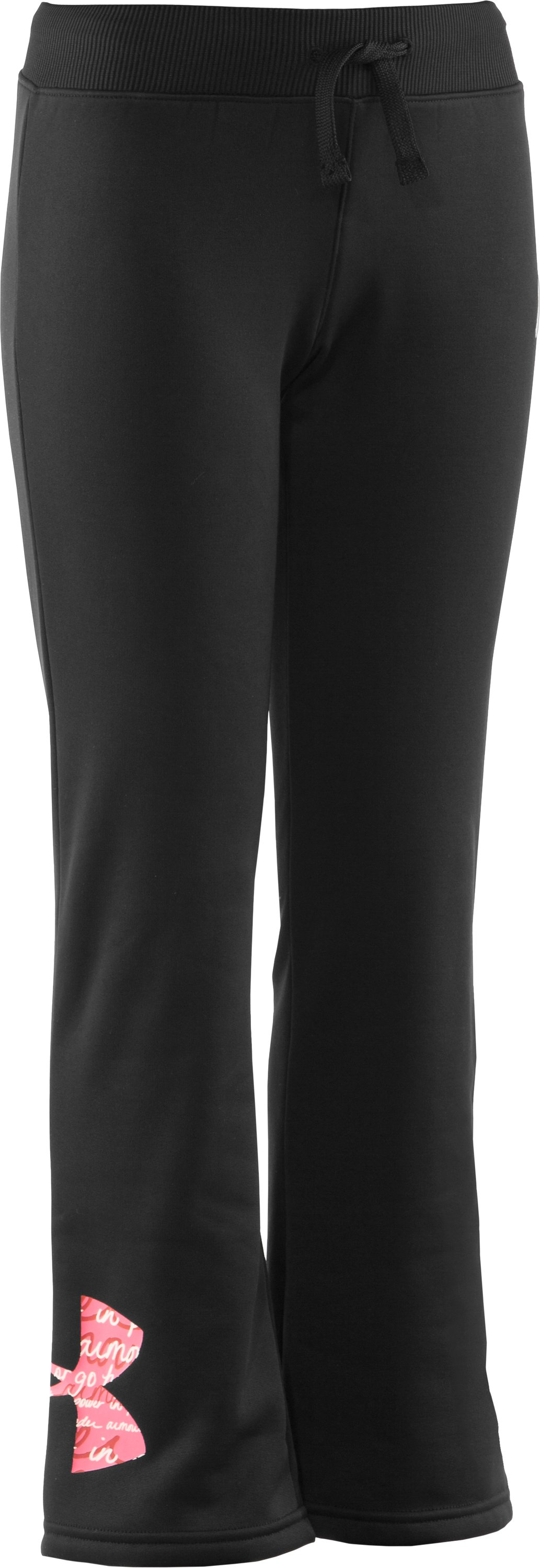 Girls' PIP® Armour® Fleece Storm Pant, Black , zoomed image