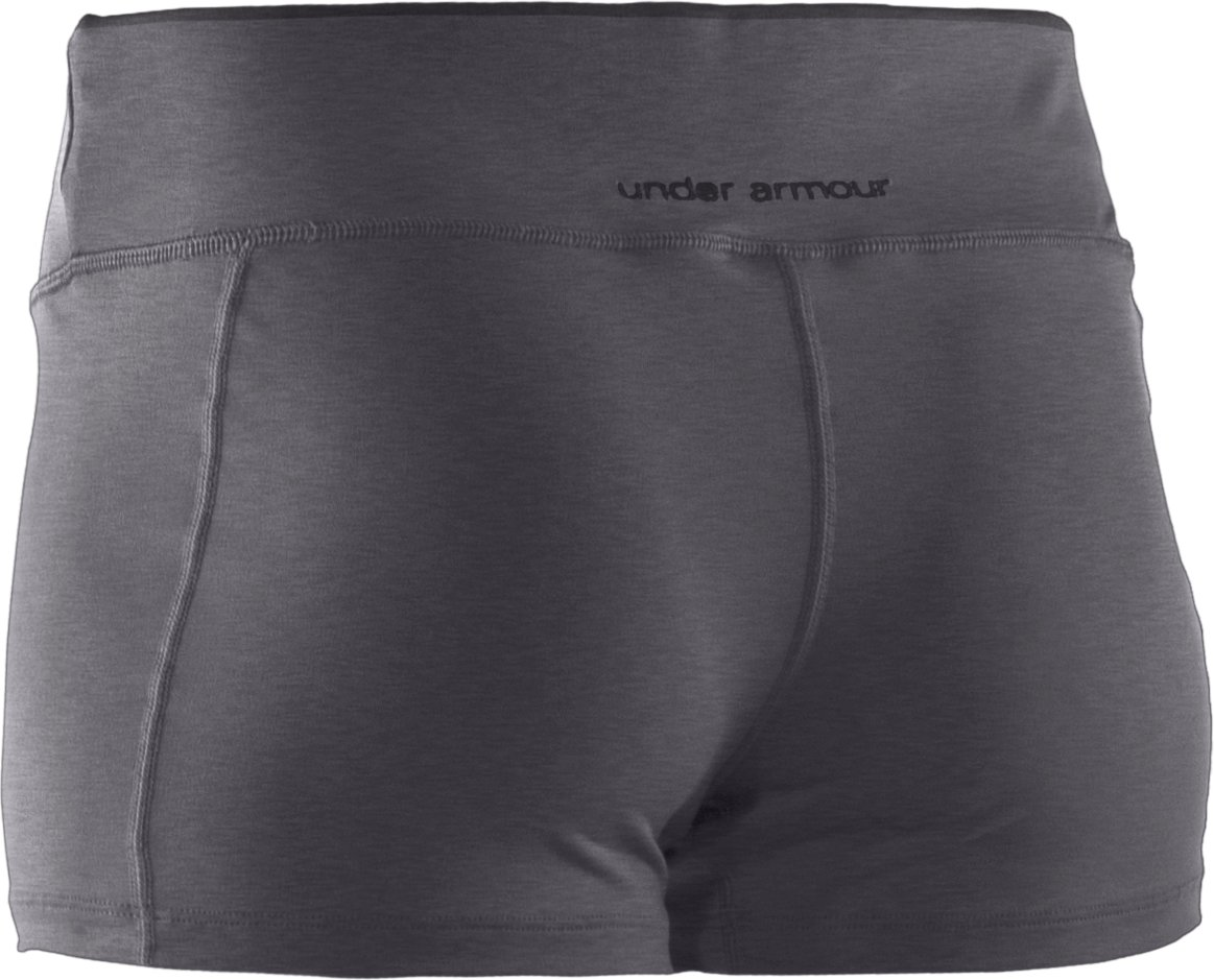 "Women's HeatGear® Sonic 2.5"" Shorty, Carbon Heather, undefined"