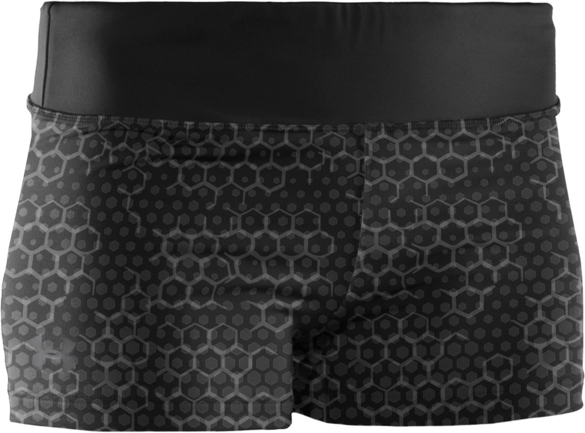 "Women's HeatGear® Sonic 2.5"" Printed Shorty, Black"