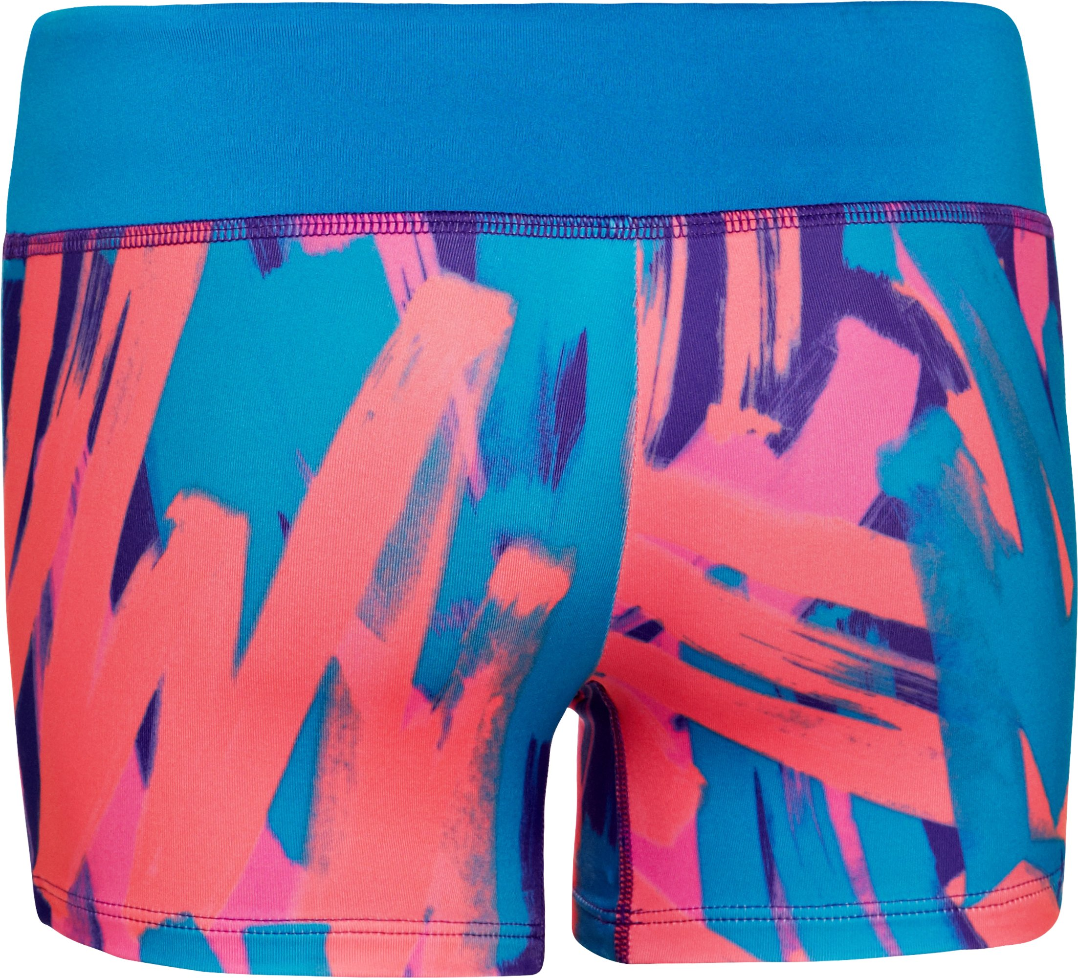 "Girls' HeatGear® Sonic 3"" Printed Shorts, PRIDE"