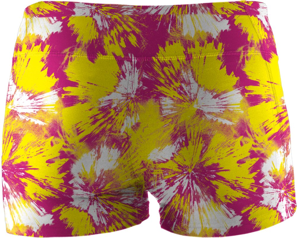 "Girls' HeatGear® Sonic 3"" Printed Shorts, Tropic Pink"