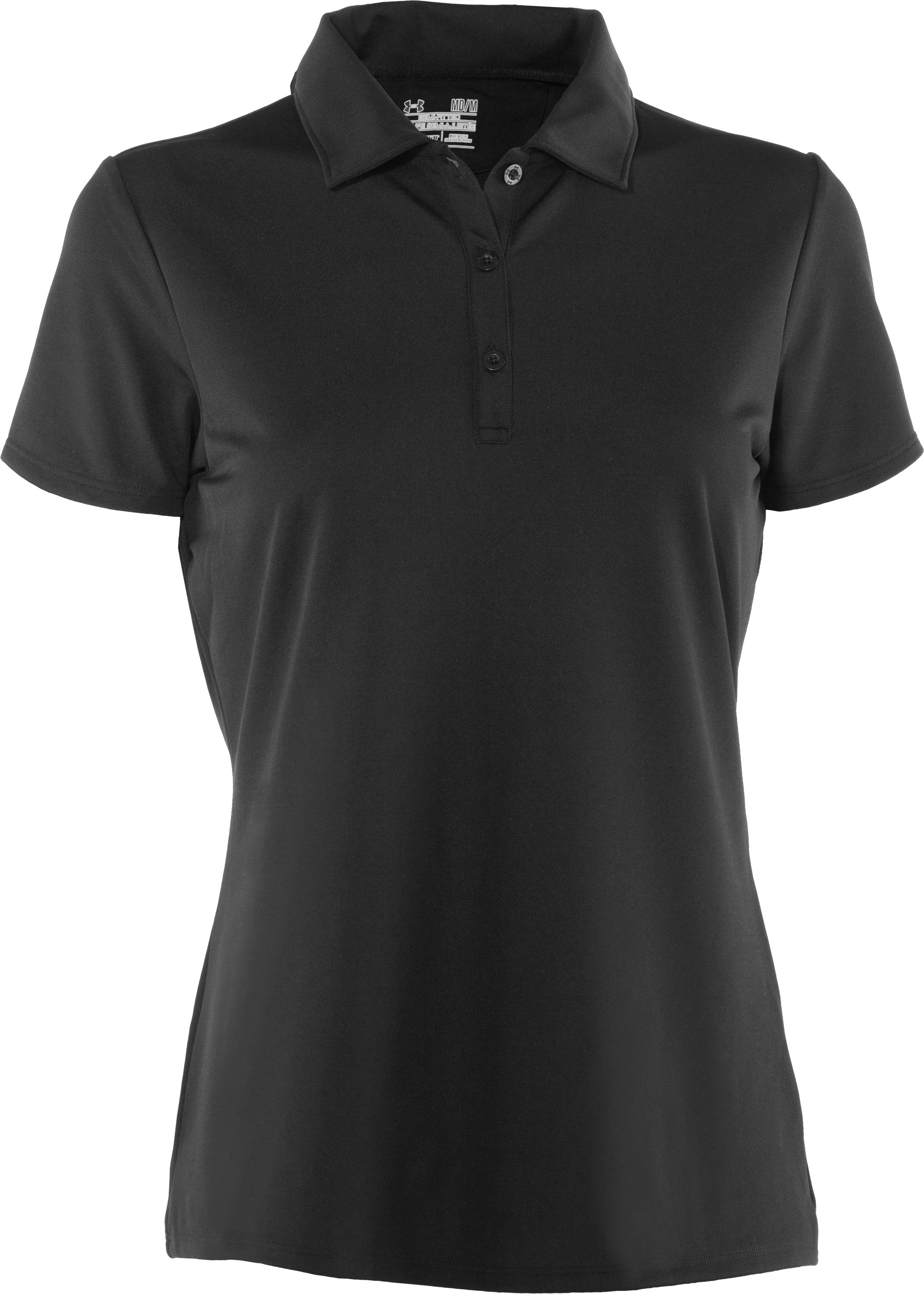 Women's UA Tactical Breech Polo, Black , undefined