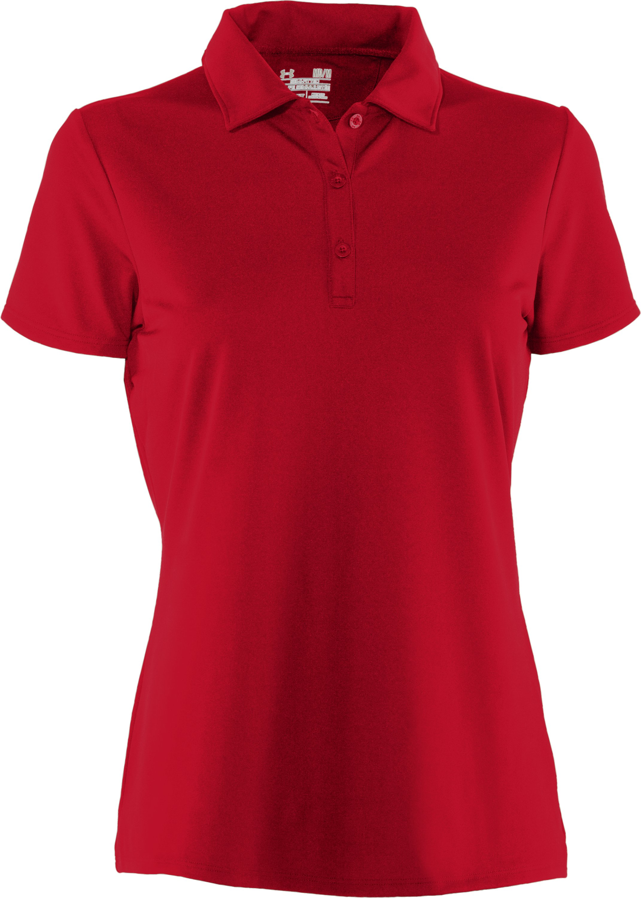 Women's UA Tactical Breech Polo, Red,