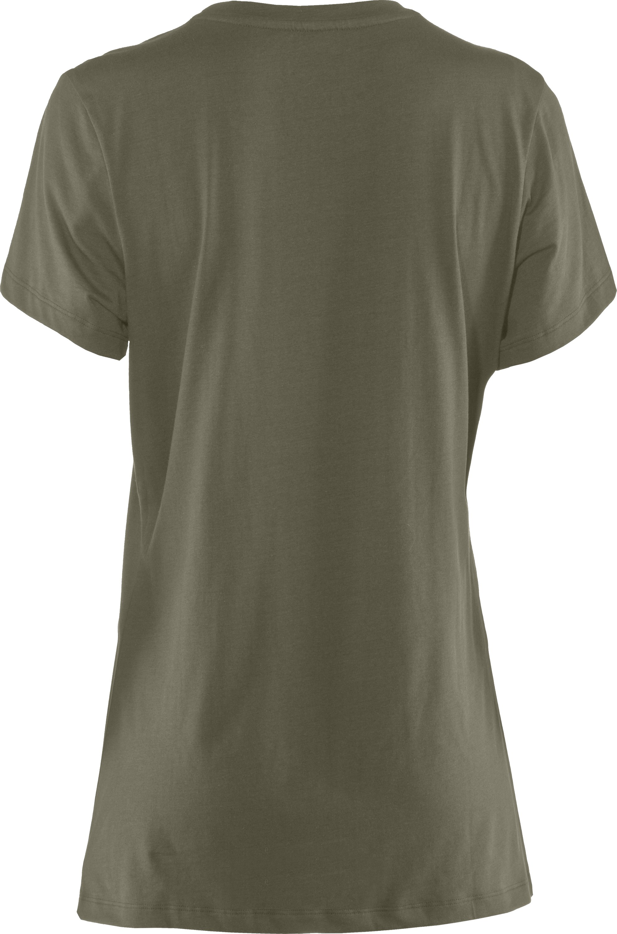 Women's UA Tactical Charged Cotton® T-Shirt, Marine OD Green