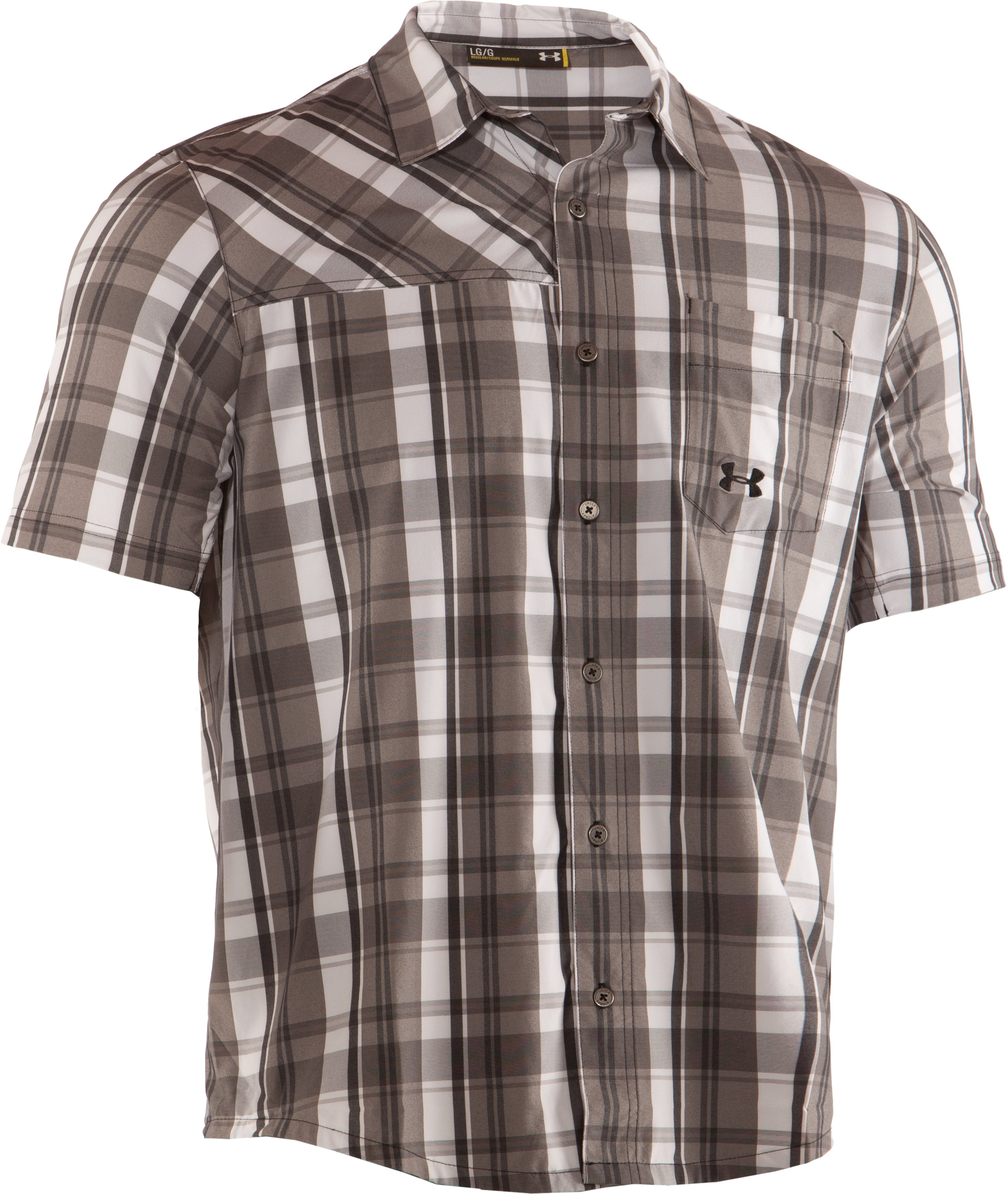 Men's UA Range Plaid Shirt, Battleship