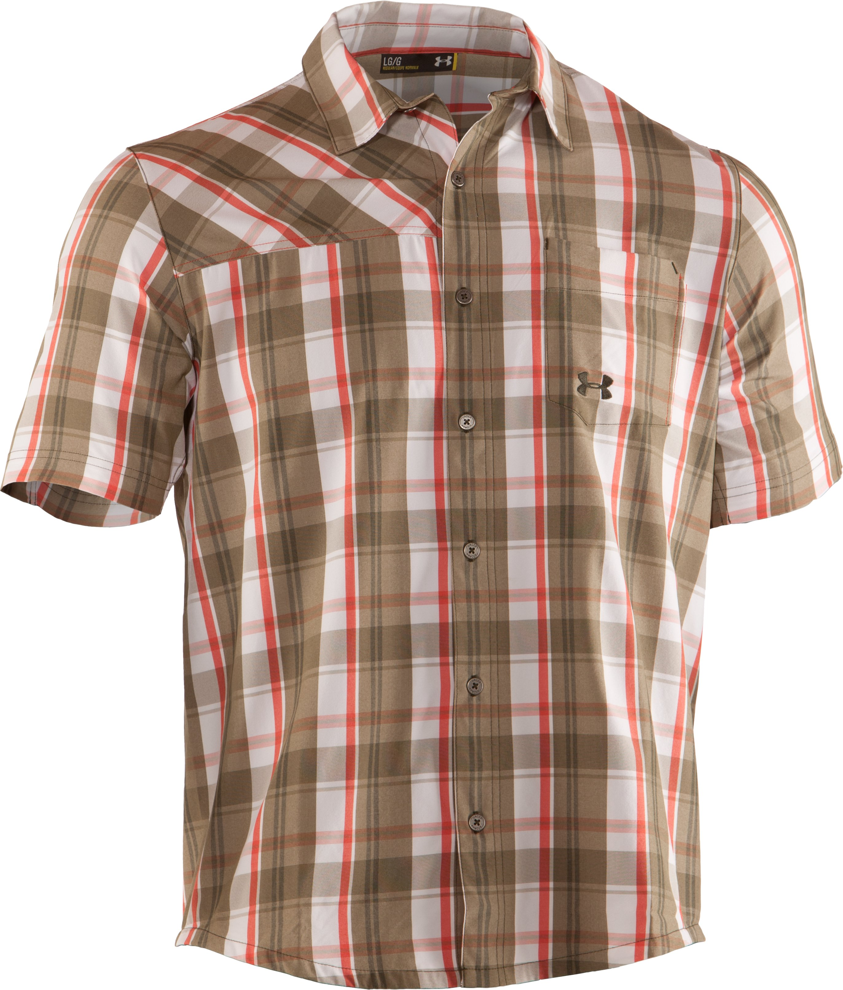 Men's UA Range Plaid Shirt, Drab