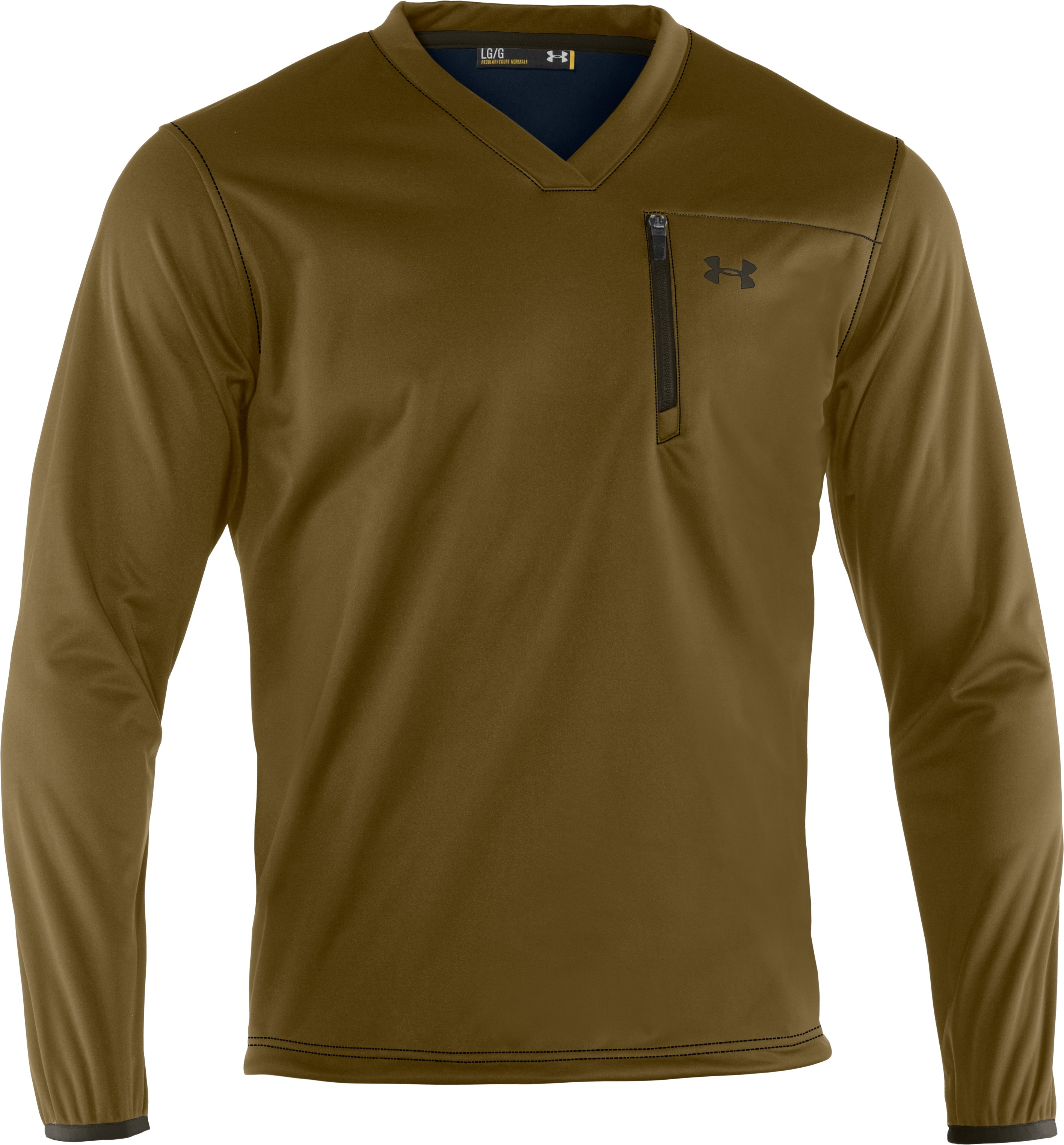 Men's UA Gust Breaker Pullover, Drab, undefined