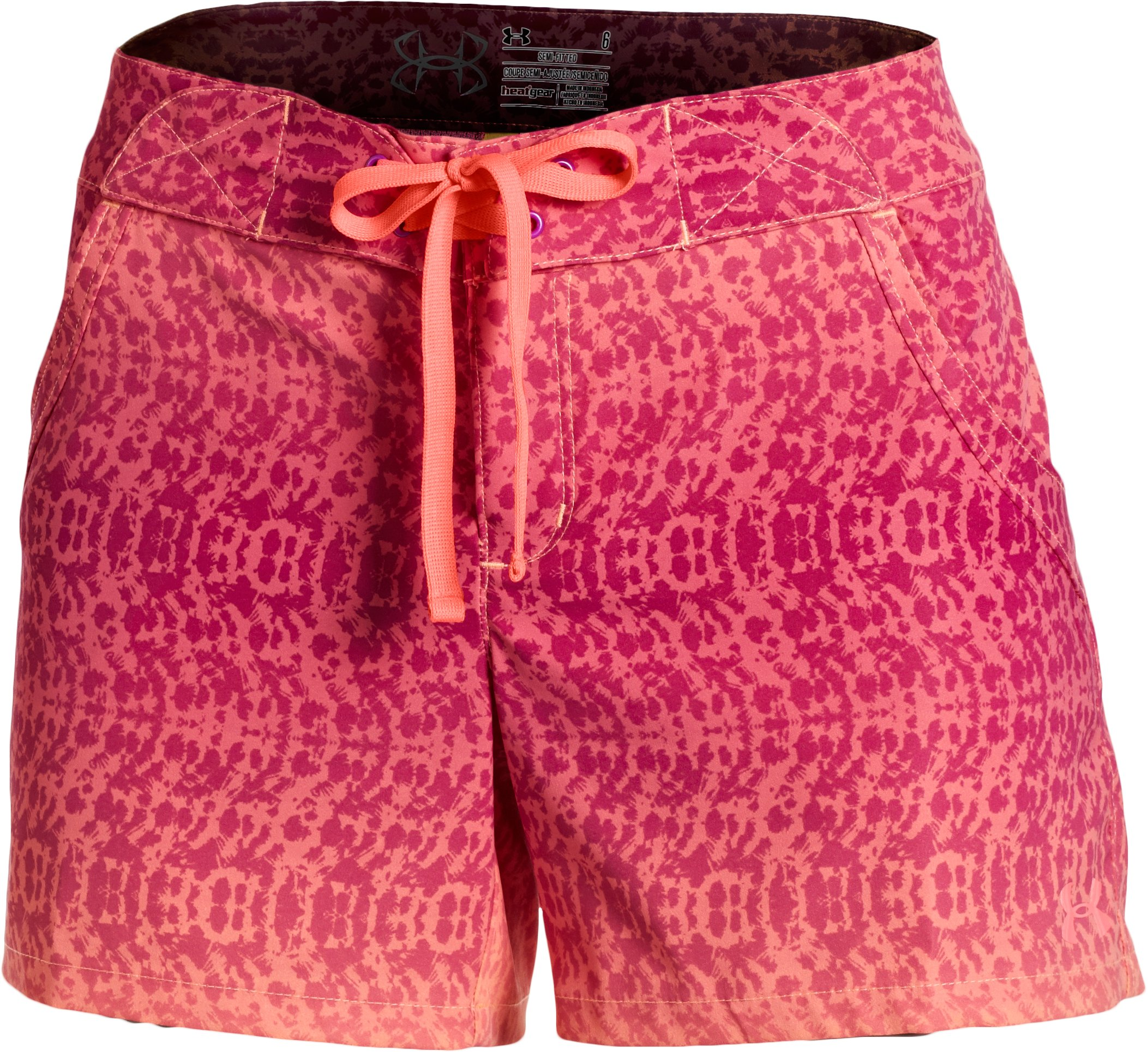 Women's UA Even Keel Board Shorts, Afterglow