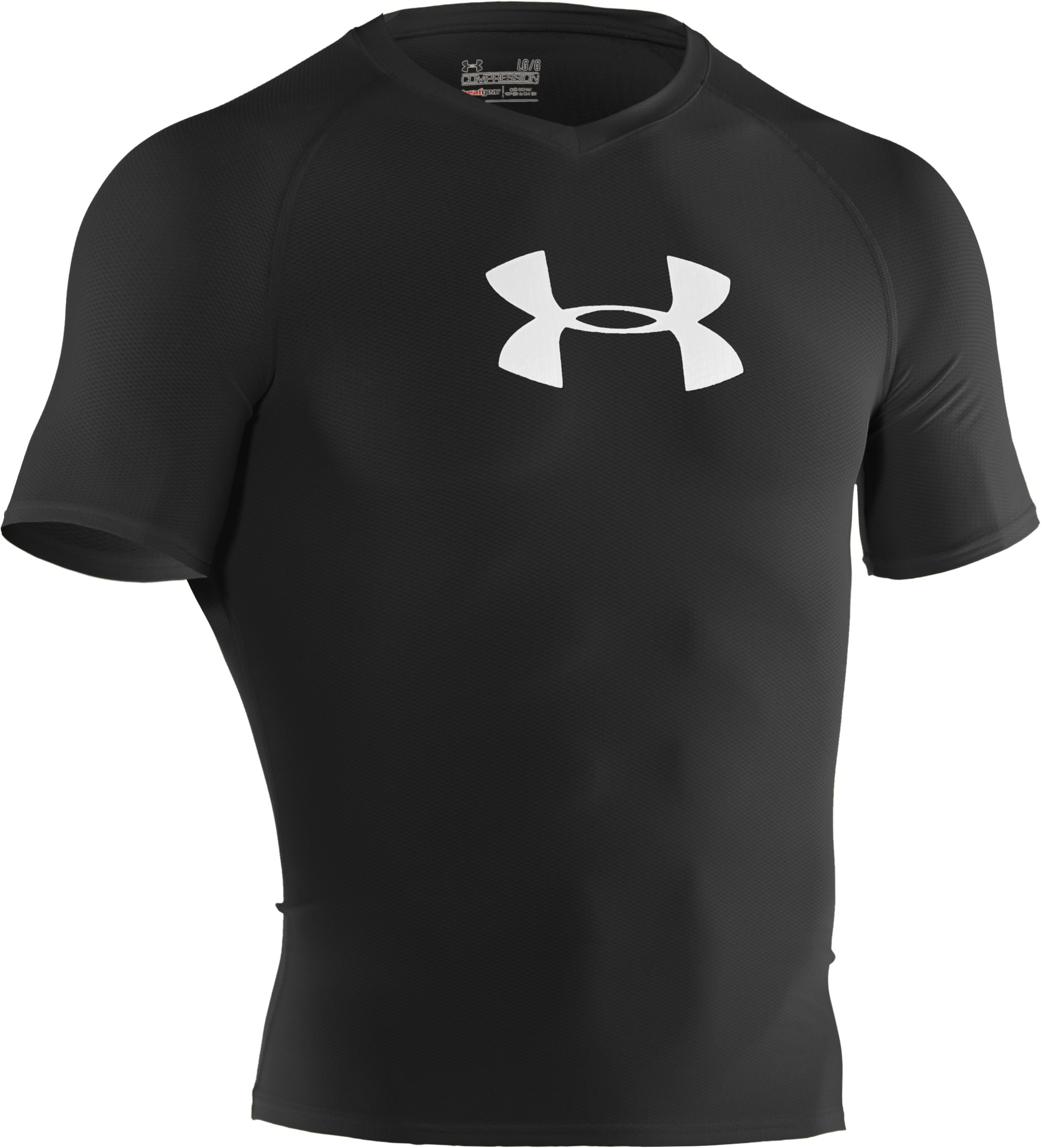 Men's UA Keewaydin Rash Guard, Black , undefined