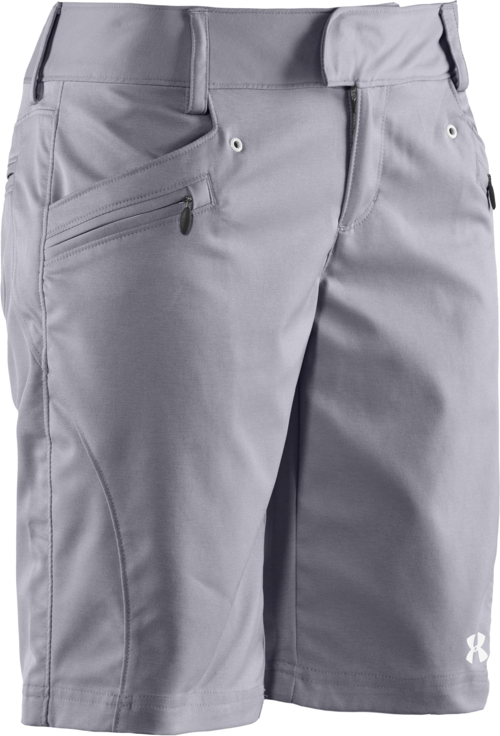 Women's UA Tellervo Walking Shorts, Aluminum,