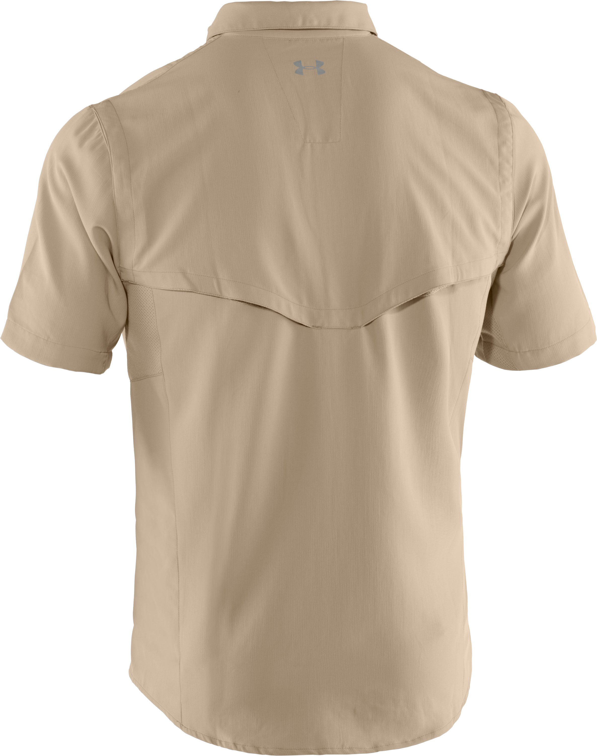 Men's UA Ventilated Woven Short Sleeve, BRANCH