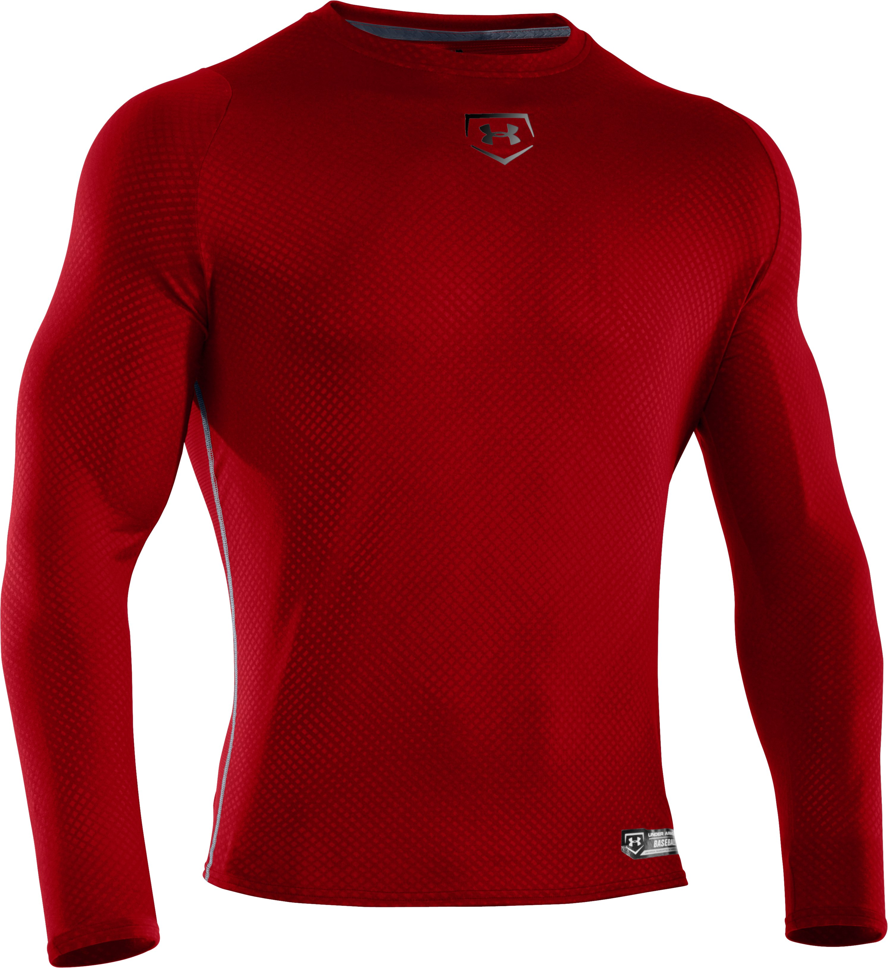 Men's UA Diamond Armour™ Baseball Long Sleeve Baselayer, Red, undefined