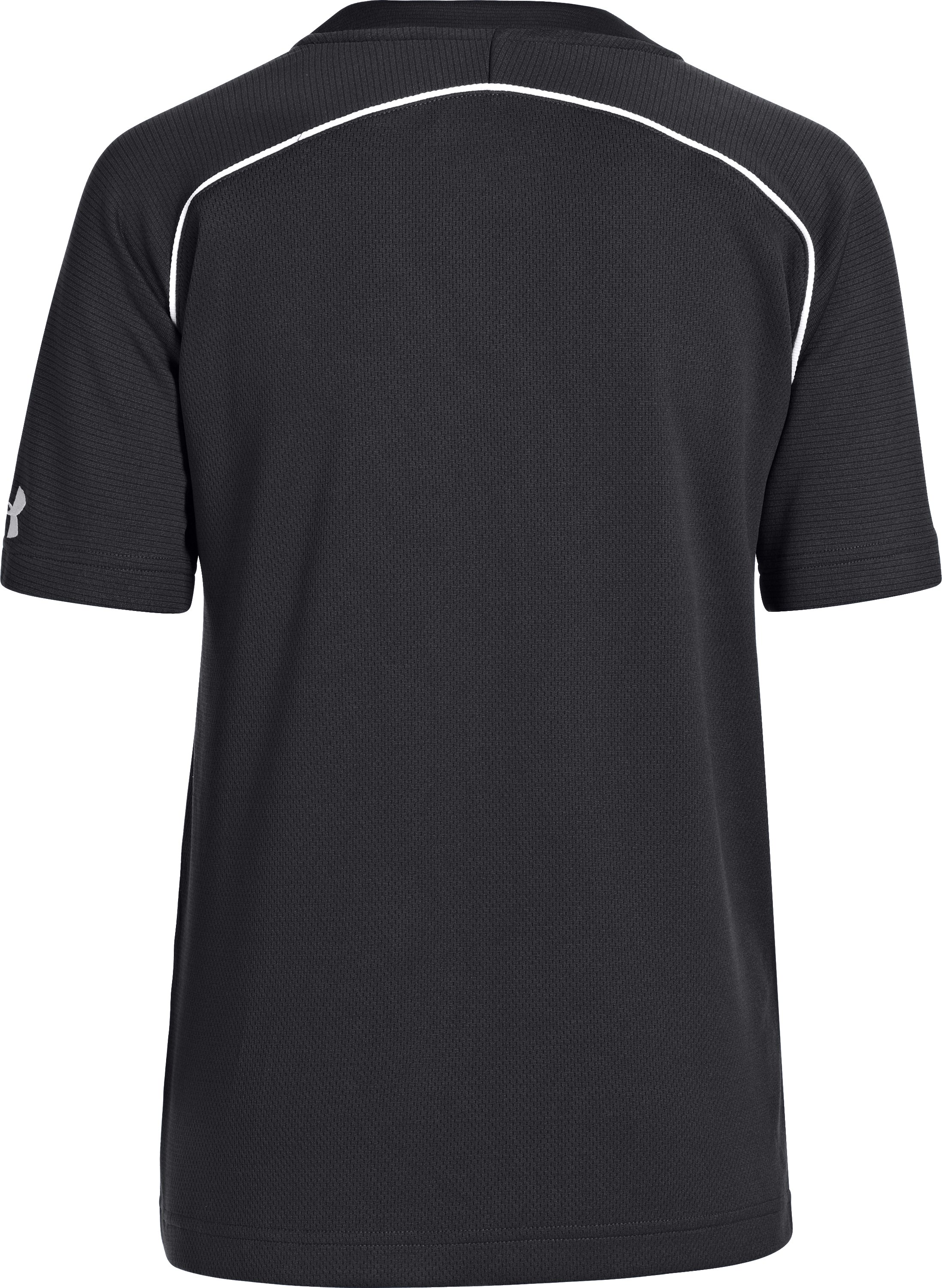 Boys' UA Landsdown II Baseball Jersey, Black ,