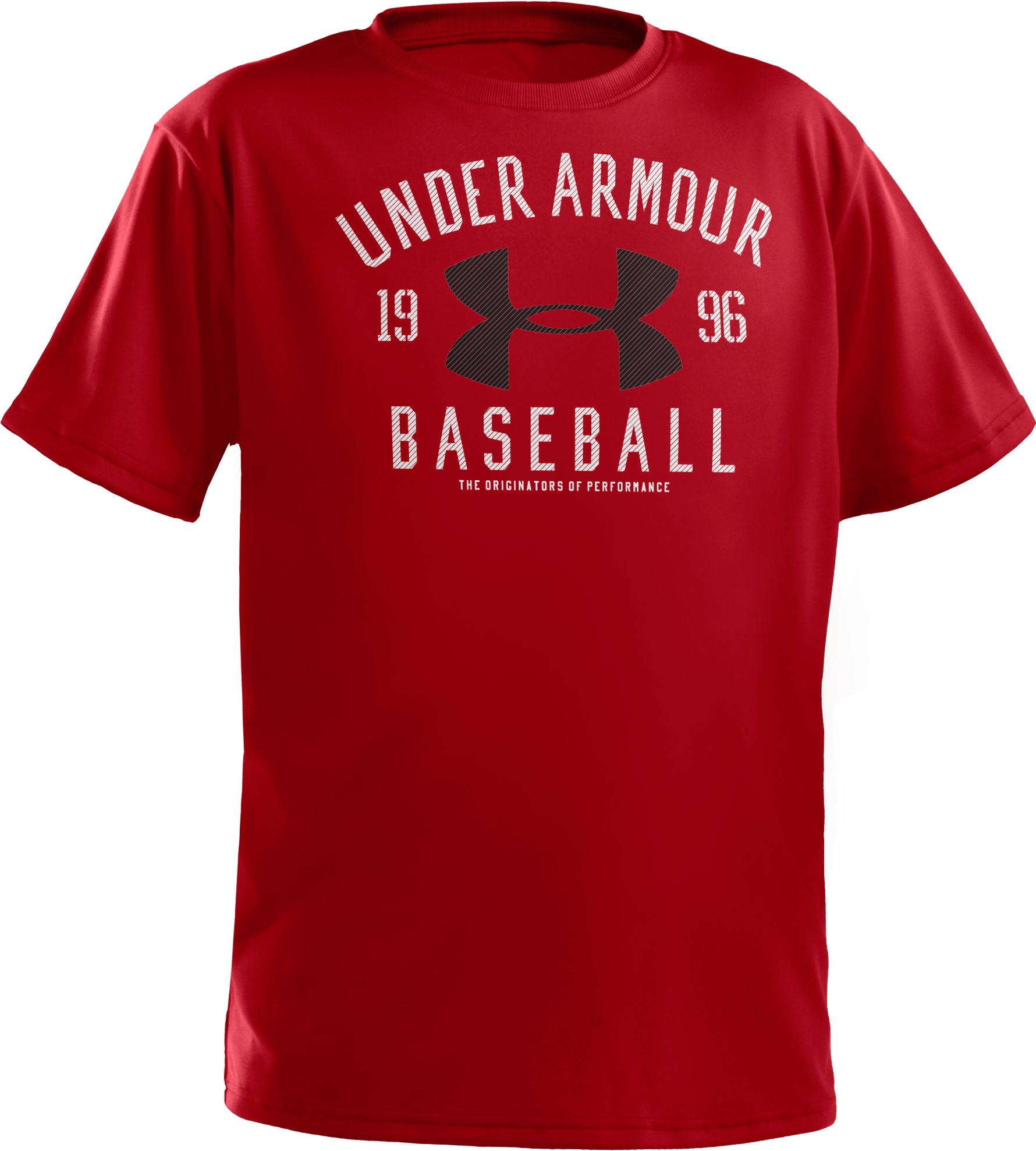 Boys' UA Future Collegiate T-Shirt, Red, zoomed image