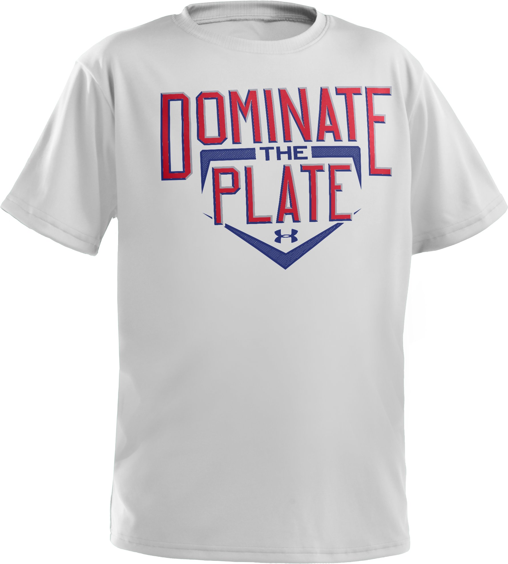 Boys' UA Dominate The Plate T-Shirt, White, undefined
