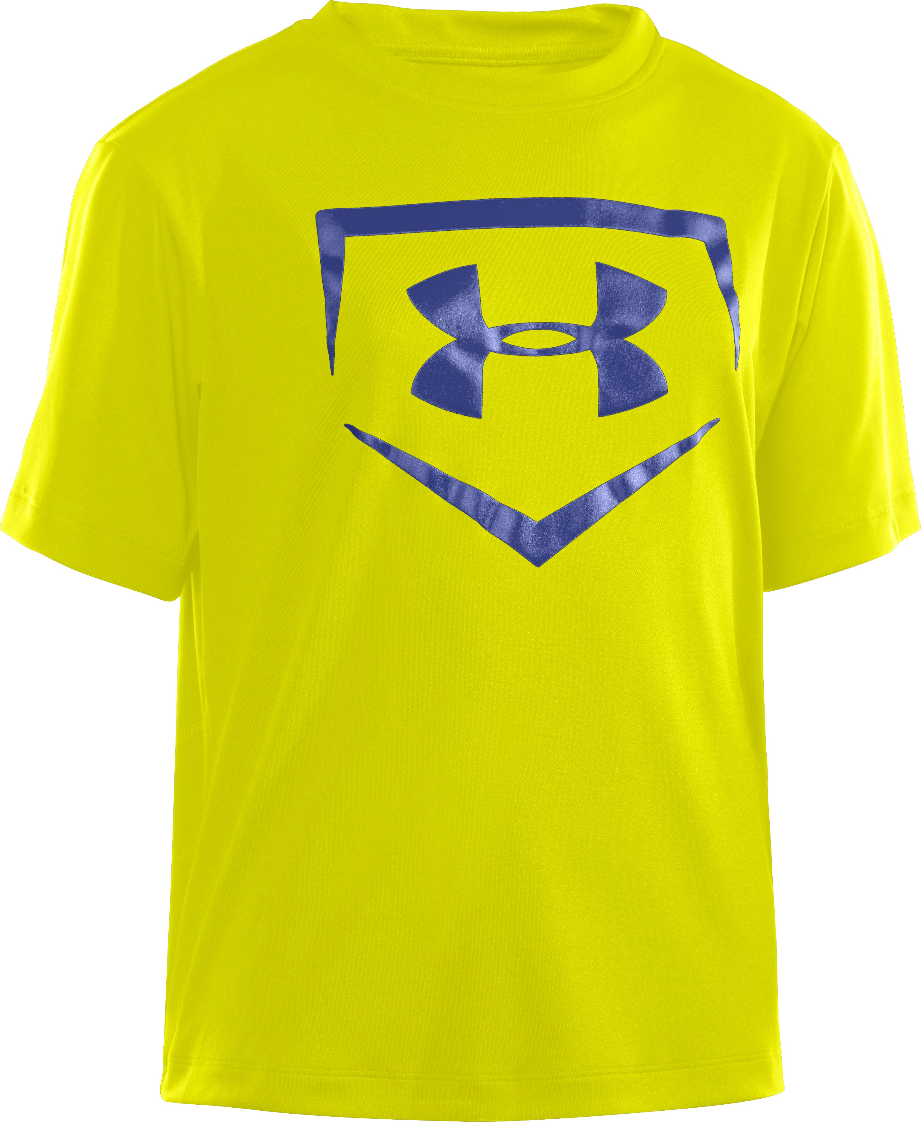 Boys' UA CTG Chain Link Short Sleeve, High-Vis Yellow, zoomed image