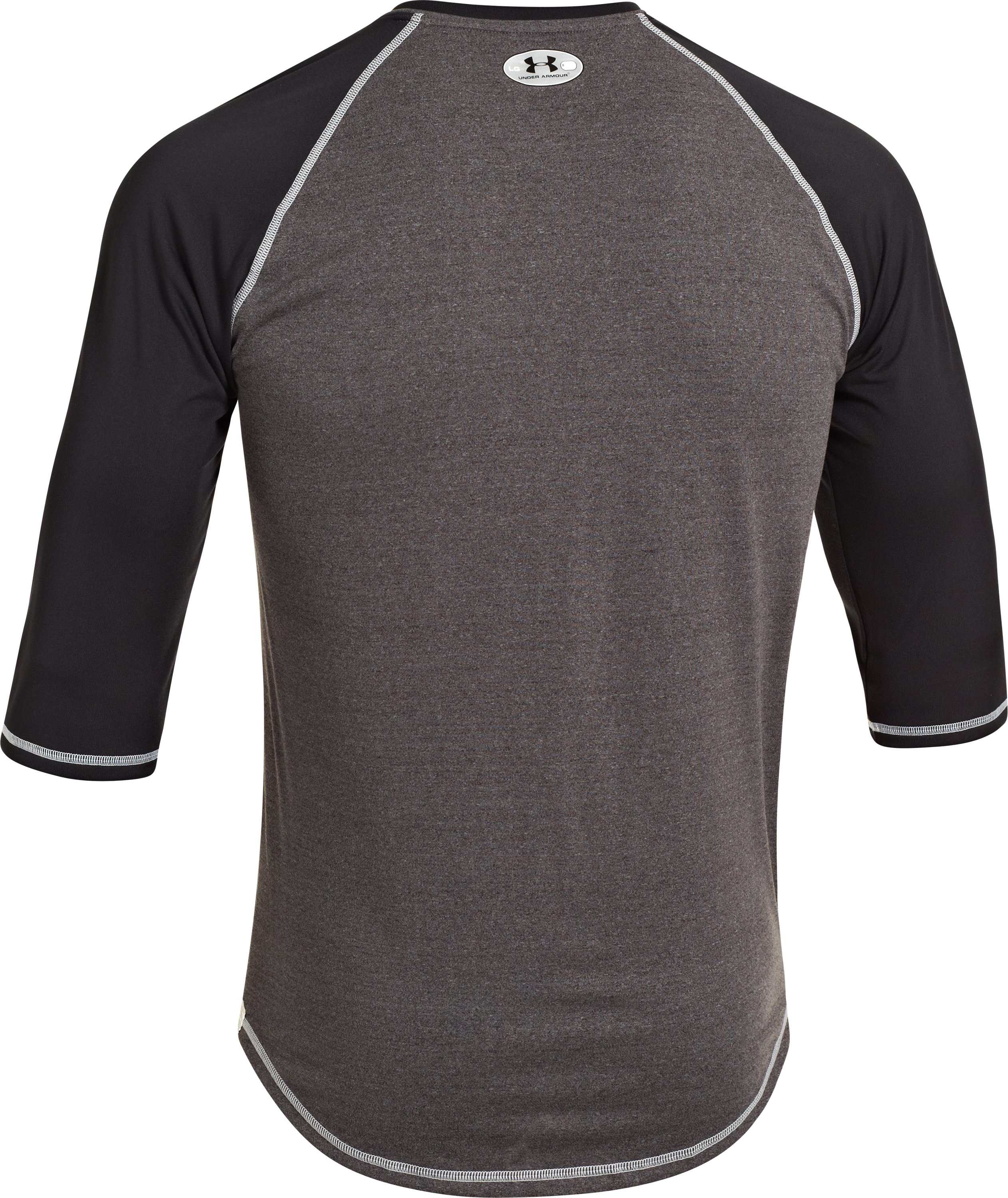Men's UA Baseball ¾ Sleeve Shirt, Black