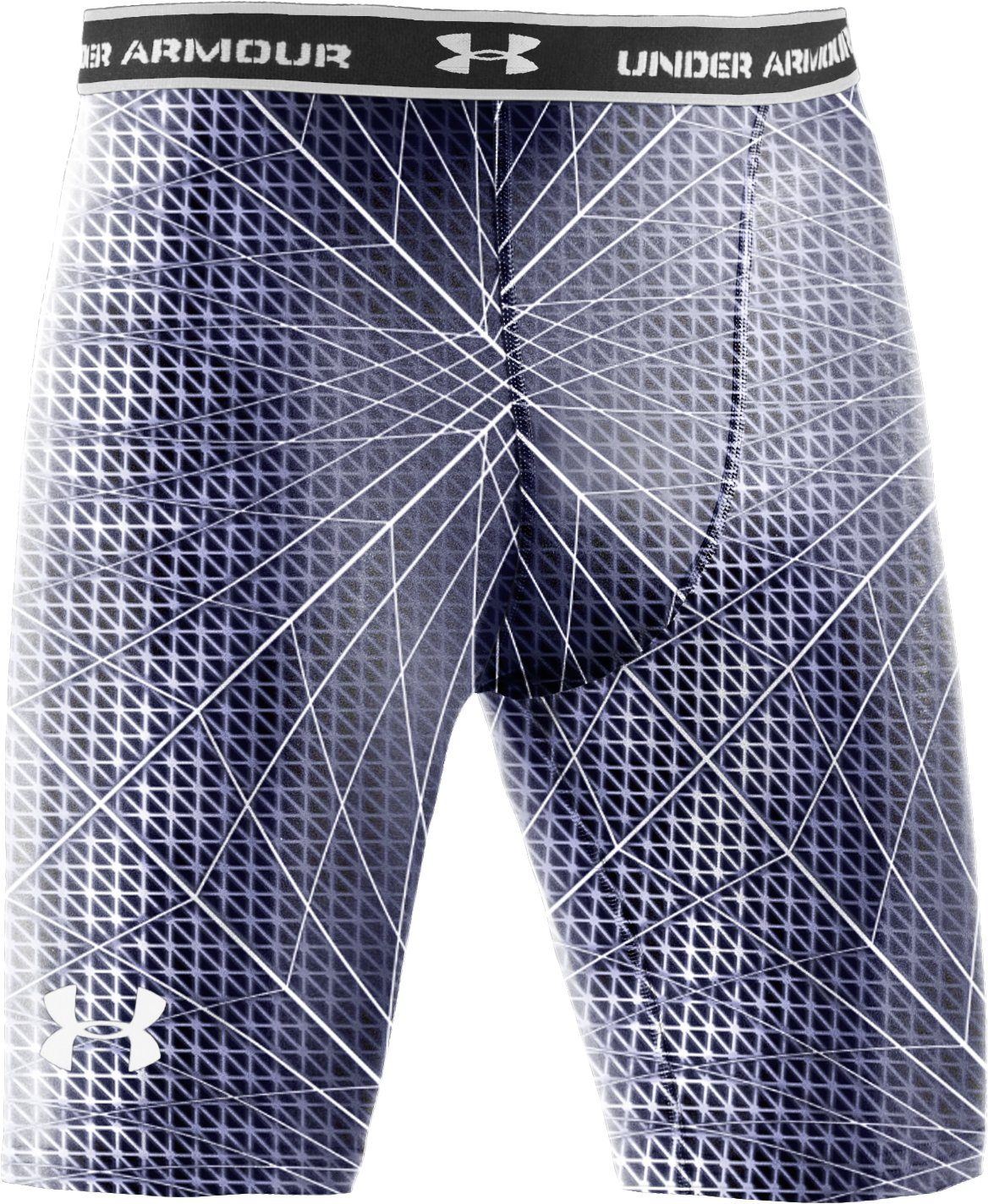 "Men's HeatGear® Compression Printed 7"" Shorts, Midnight Navy, undefined"