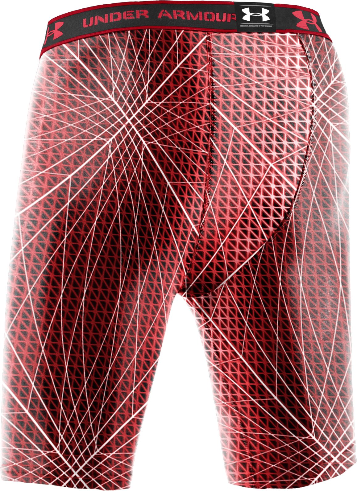 "Men's HeatGear® Compression Printed 7"" Shorts, Red"