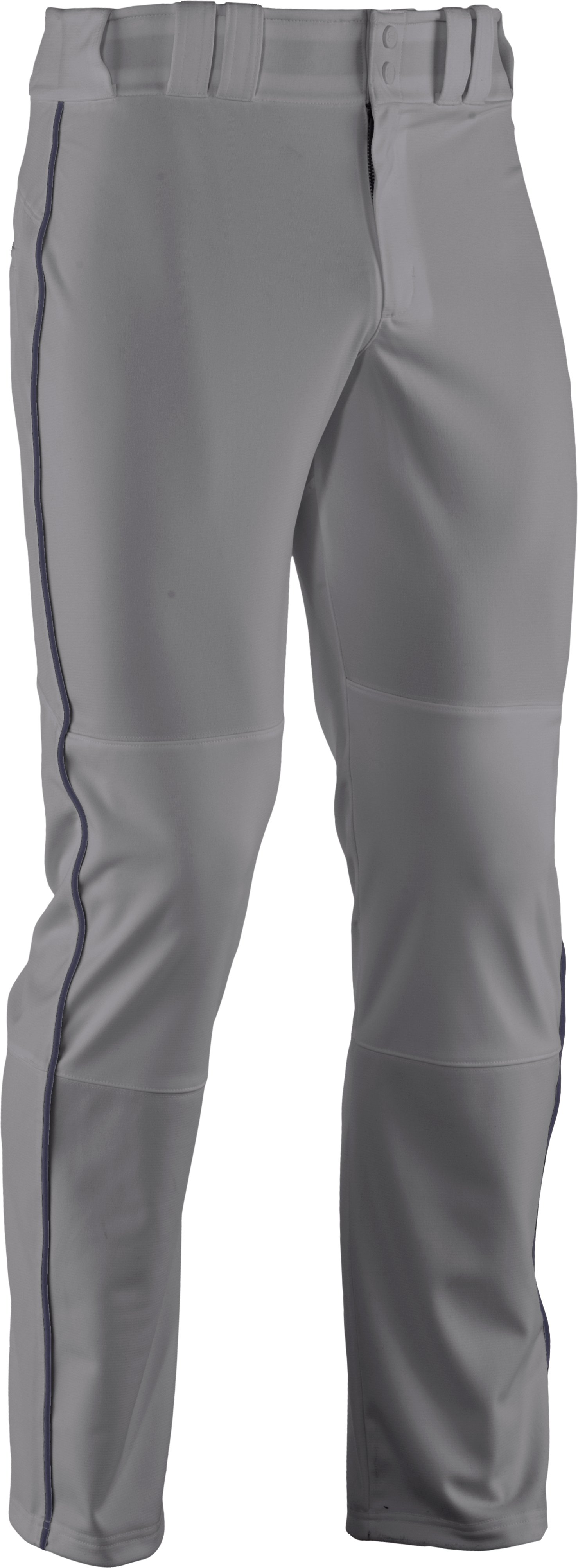Men's UA Leadoff Piped Baseball Pants, Baseball Gray, undefined