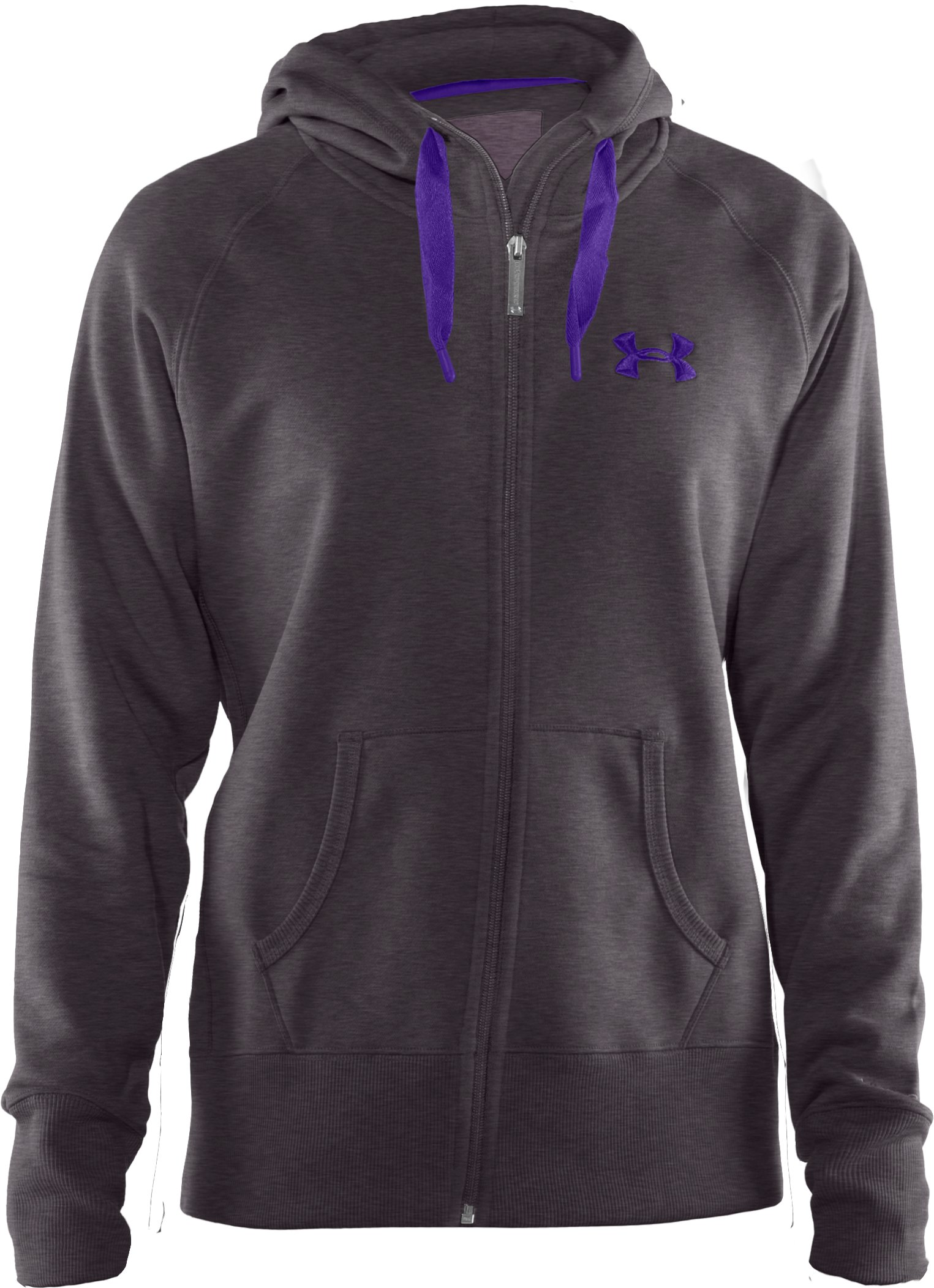 Women's Charged Cotton® Storm Full Zip Hoodie, Carbon Heather